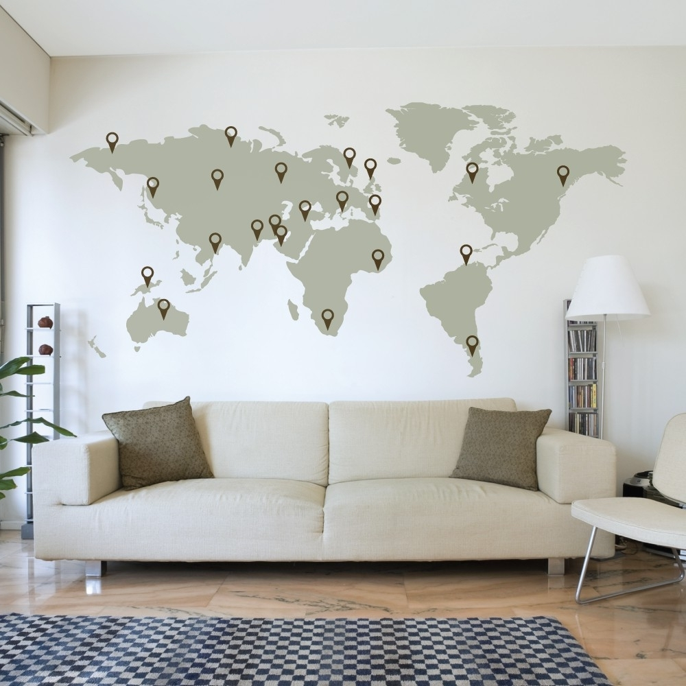 World Map Wall Art – World Maps Collection Regarding Most Popular Maps Wall Art (Gallery 11 of 20)