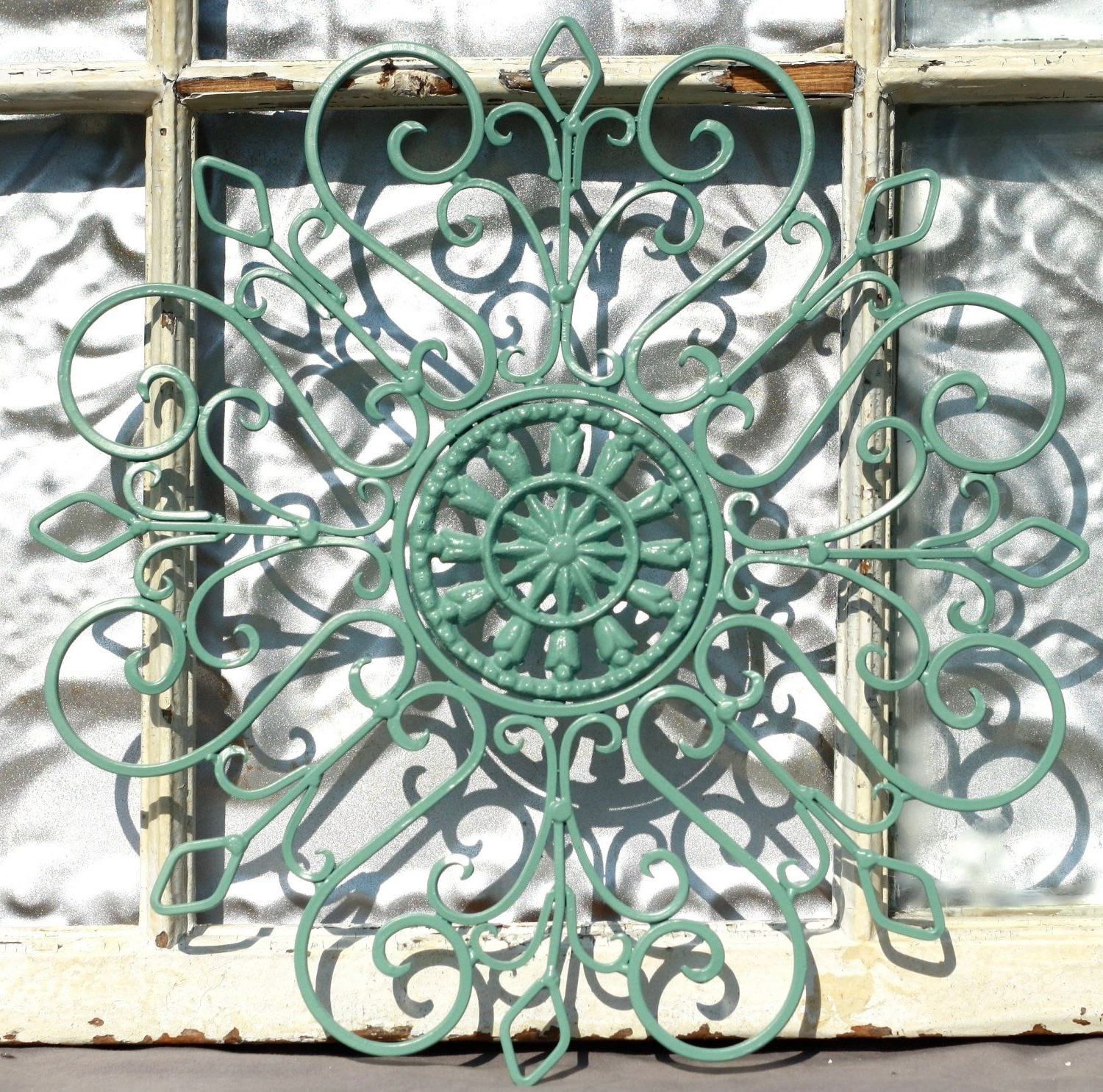 Wrought Iron Wall Decor/ Metal Wall Hanging/ Indoor/ Outdoor Metal Inside Latest Metal Outdoor Wall Art (View 10 of 20)