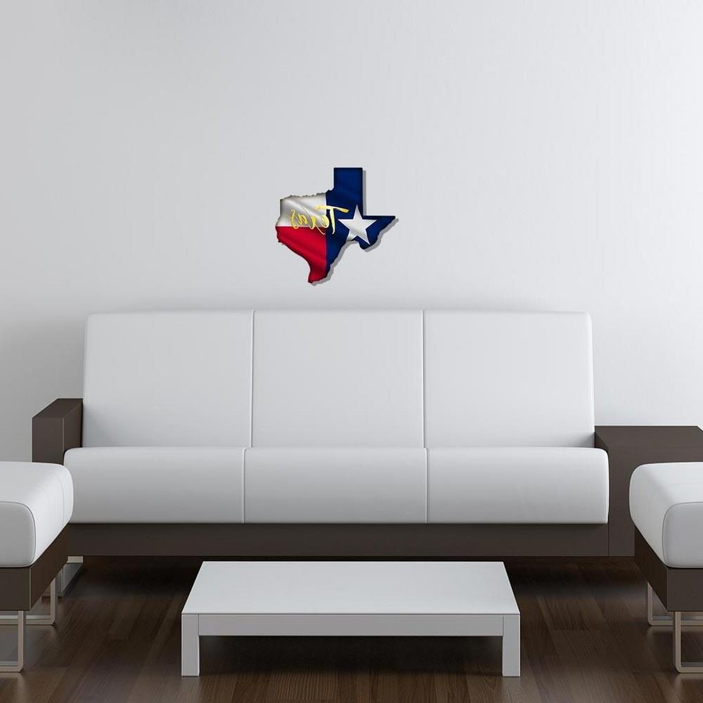 Yellow Texas Flag Metal Wall Art 101410034 Yellowtexas – The Home Depot In Widely Used Texas Wall Art (View 17 of 20)