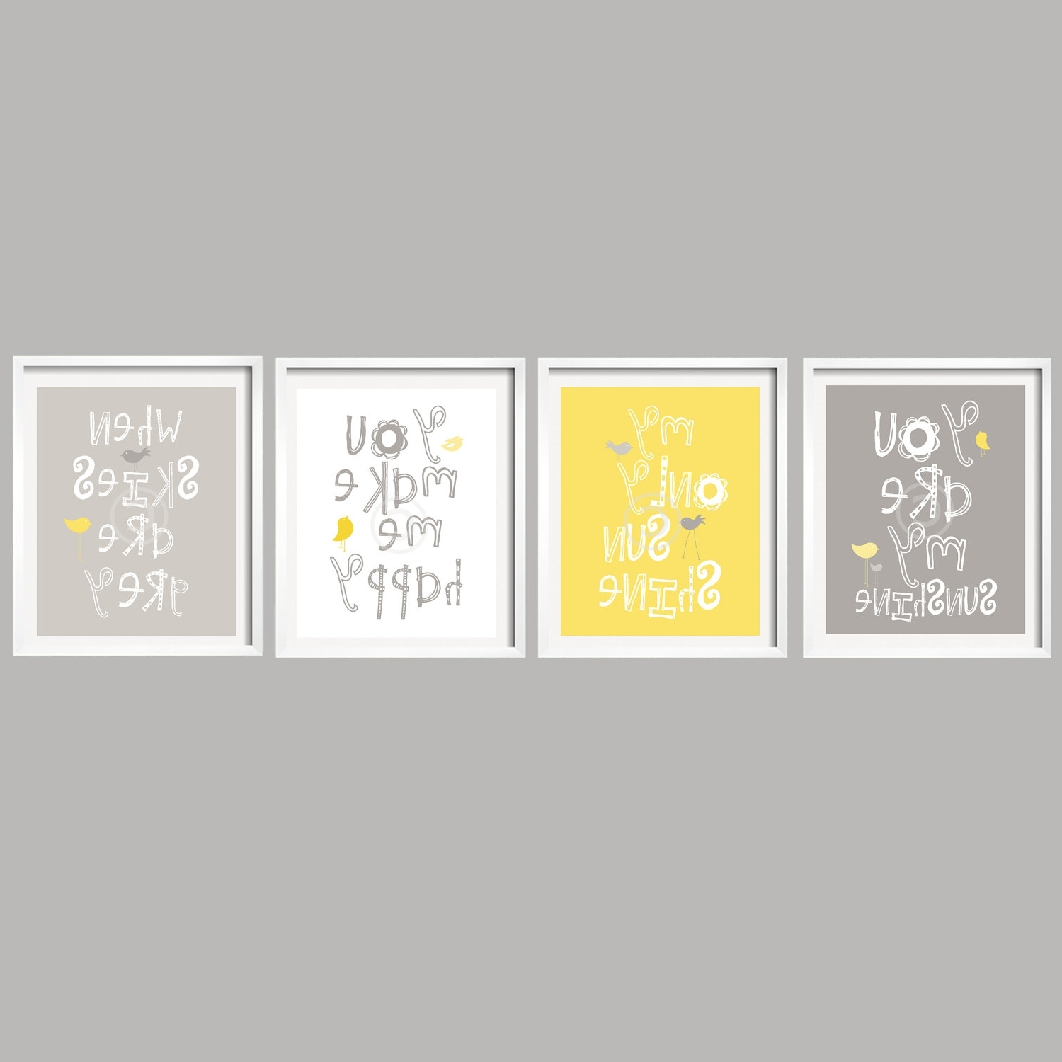 Yellow Wall Art In Widely Used Yellow And Grey Wall Art – Jscollectionofficial (View 13 of 20)