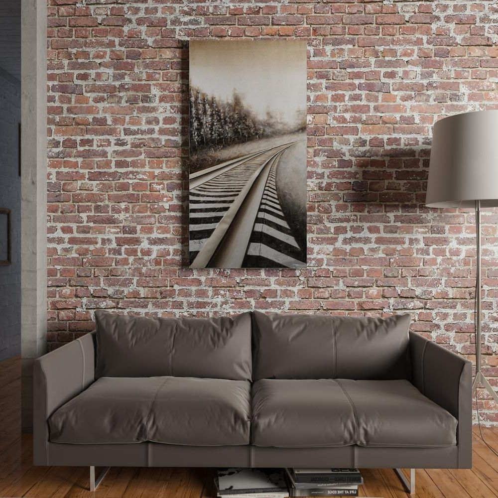 "Yosemite Home Decor 59 In. X 30 In. ""long Commute"" Hand Painted For Widely Used Long Canvas Wall Art (Gallery 17 of 20)"