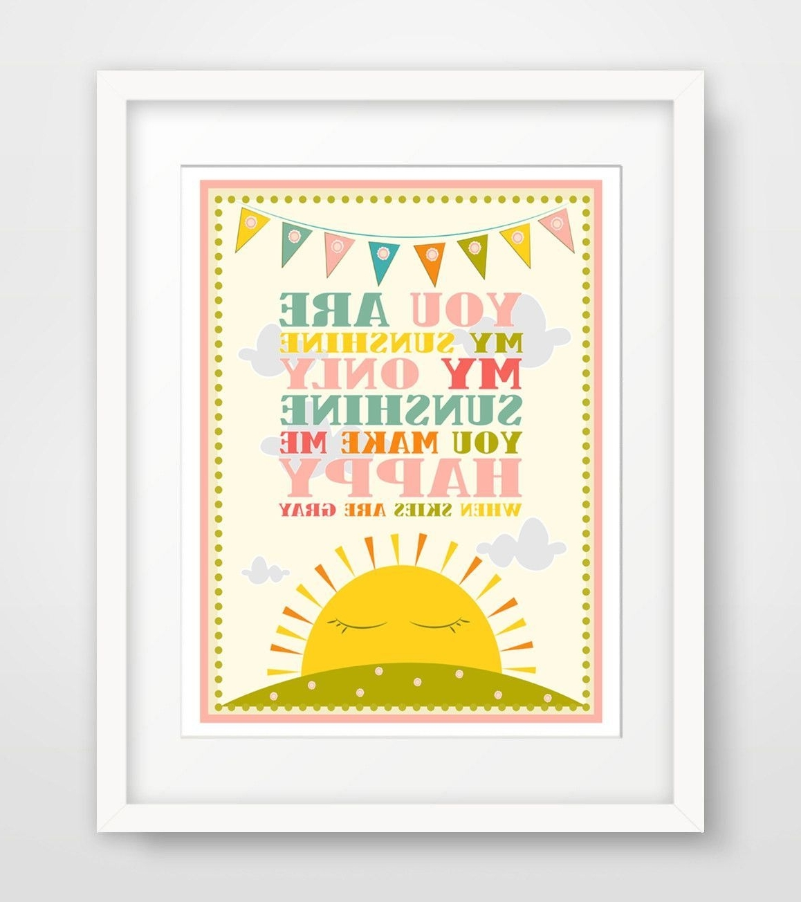 You Are My Sunshine Wall Art Throughout Best And Newest Children's Wall Art / Nursery Decor / Kids Room You Are My Sunshine (View 7 of 15)