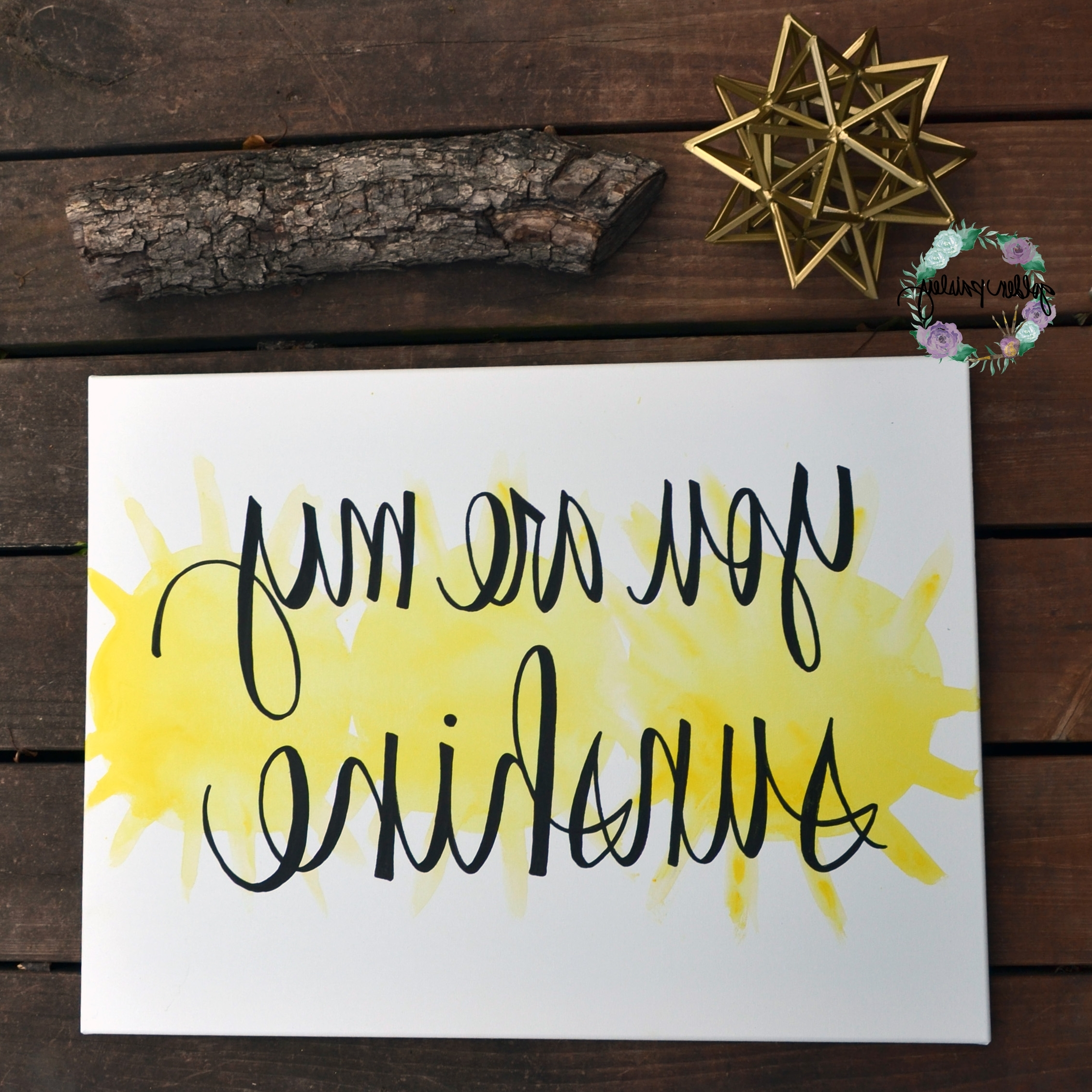 "You Are My Sunshine Wall Art Within 2018 You Are My Sunshine"" Yellow Watercolor Art (View 4 of 15)"