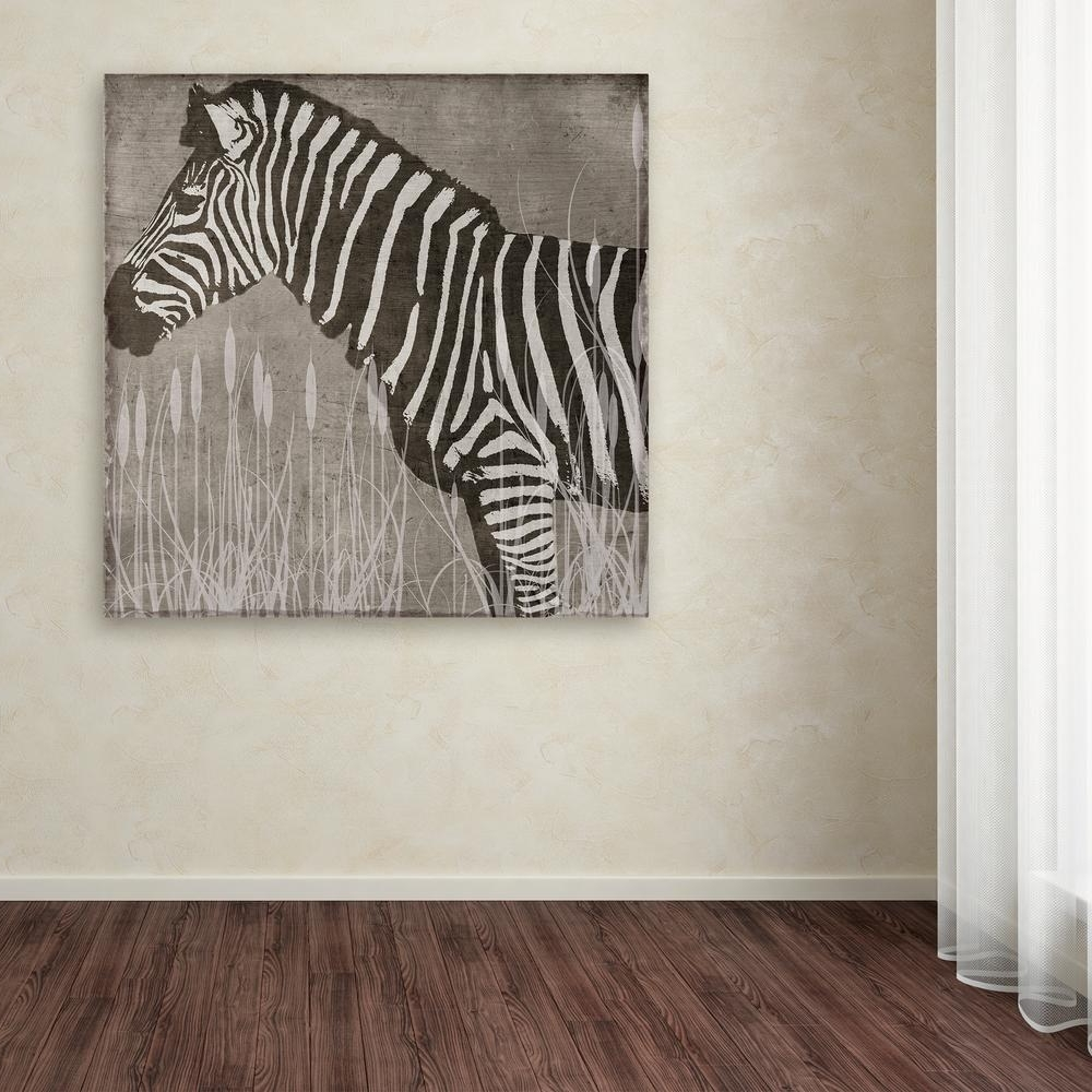 Zebra Canvas Wall Art Pertaining To Most Current Trademark Fine Art 24 In. X 24 In (View 17 of 20)