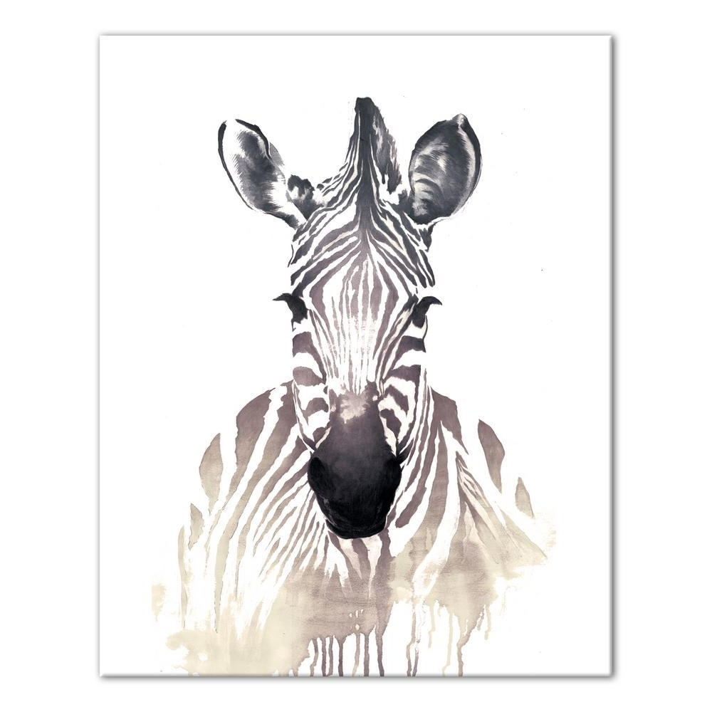 Zebra Canvas Wall Art Within Popular Designs Direct 16 In. X 20 In (View 19 of 20)