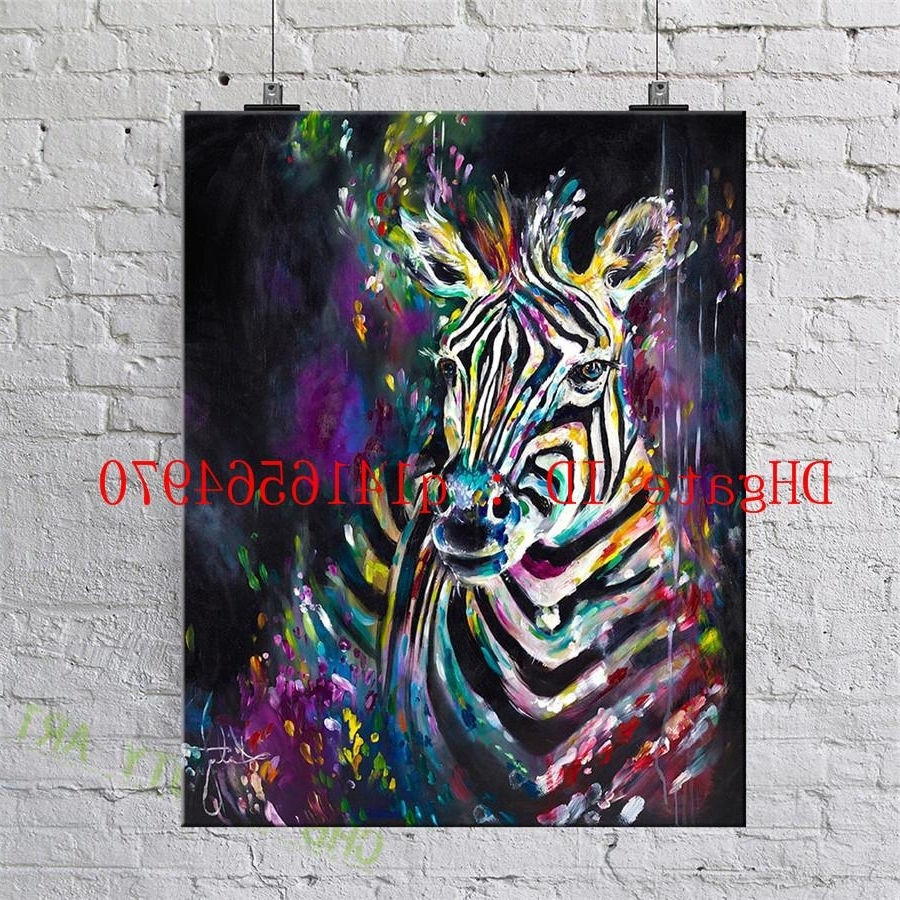 Zebra,canvas Prints Wall Art Oil Painting Home Decor 24X36 20X30 Intended For Well Known Zebra Canvas Wall Art (View 20 of 20)