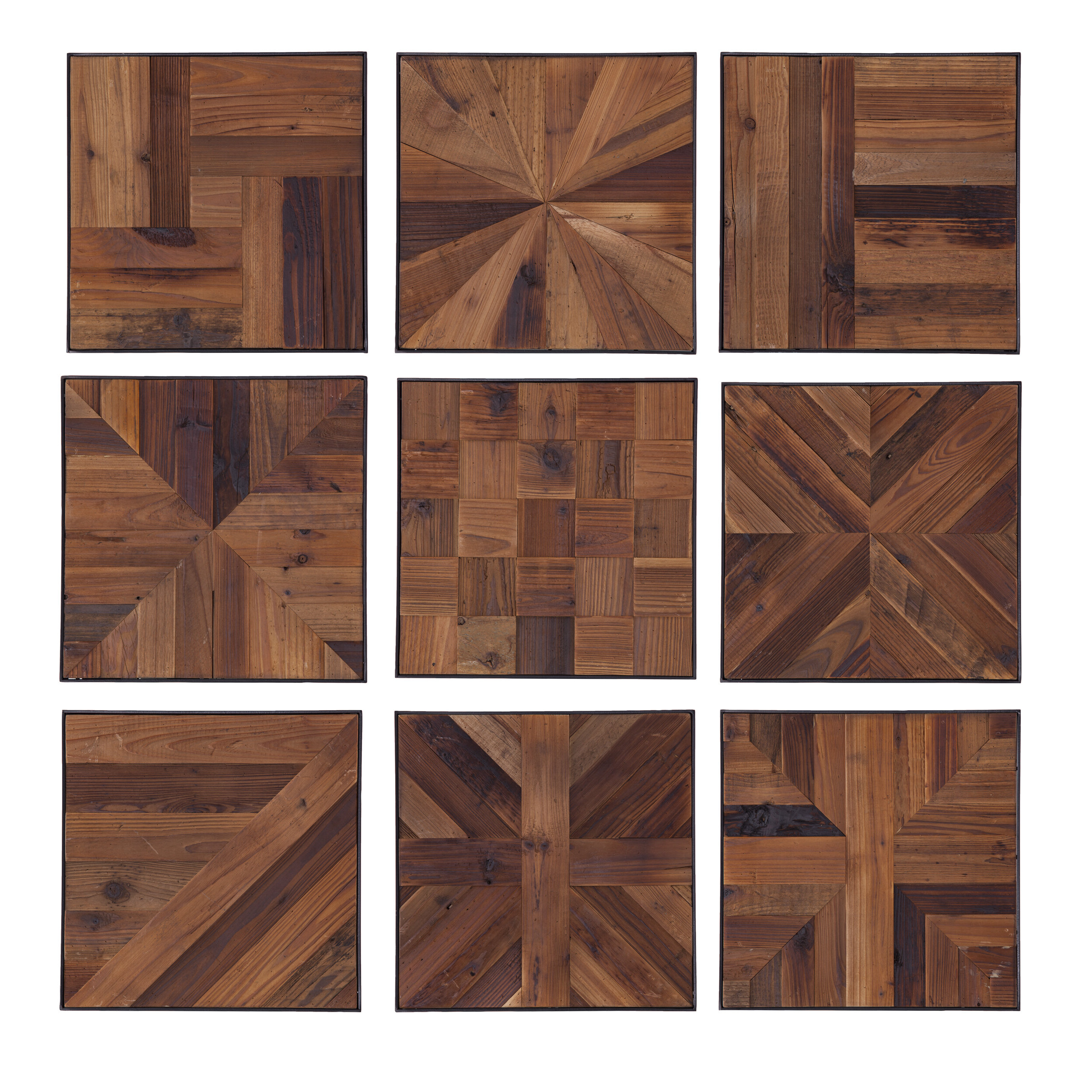 1 Piece Ortie Panel Wall Decor With Regard To 2019 9 Piece Reclaimed Wood Wall Décor Set (View 5 of 20)