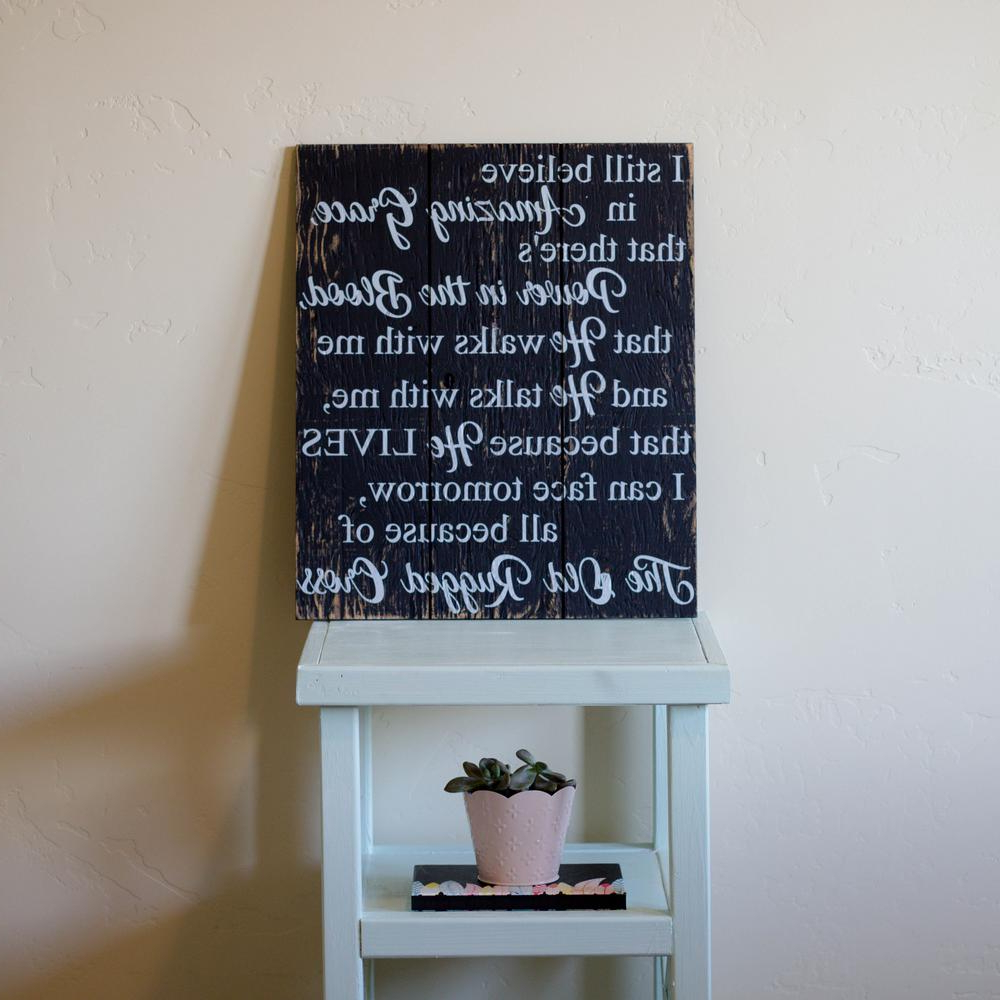 """16 In. X 19 In. """"i Still Believe In Amazing Grace""""boulder With Regard To Popular Casual Country Eat Here Retro Wall Decor (Gallery 16 of 20)"""