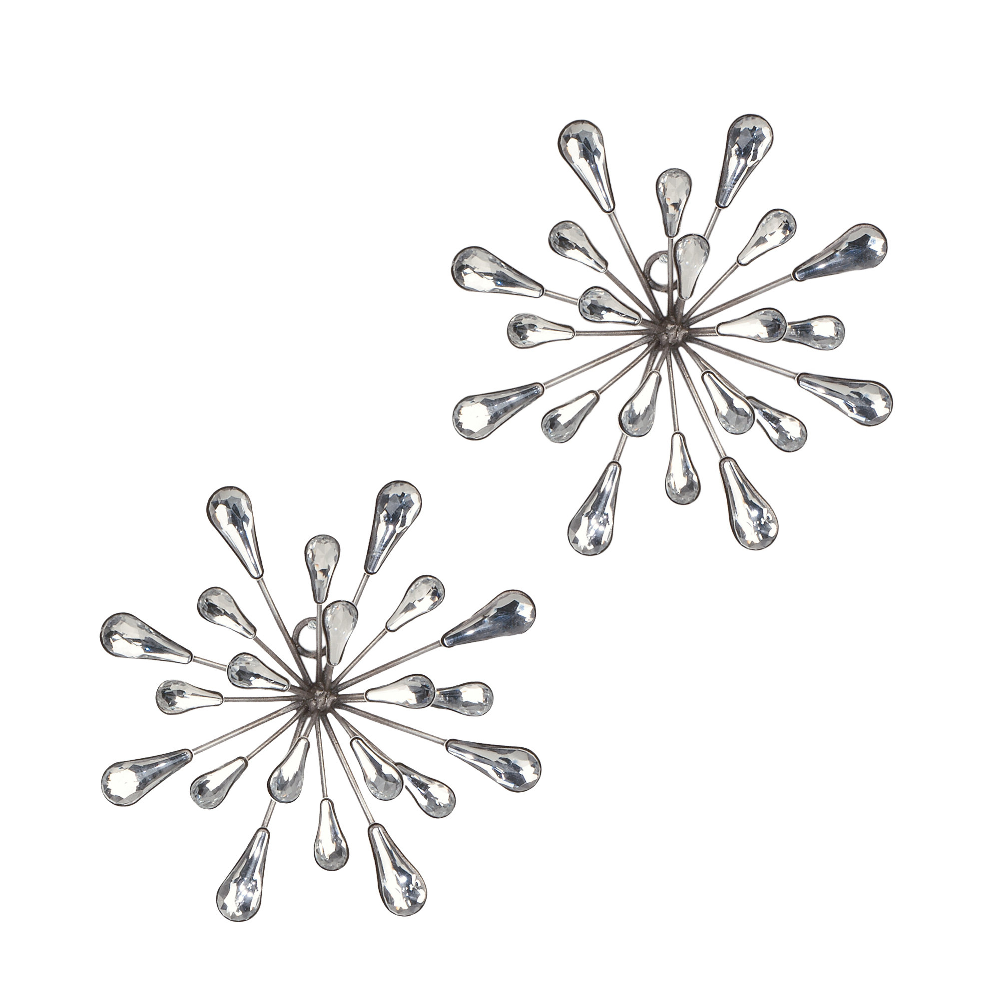 2 Piece Starburst Wall Décor Set & Reviews (View 20 of 20)