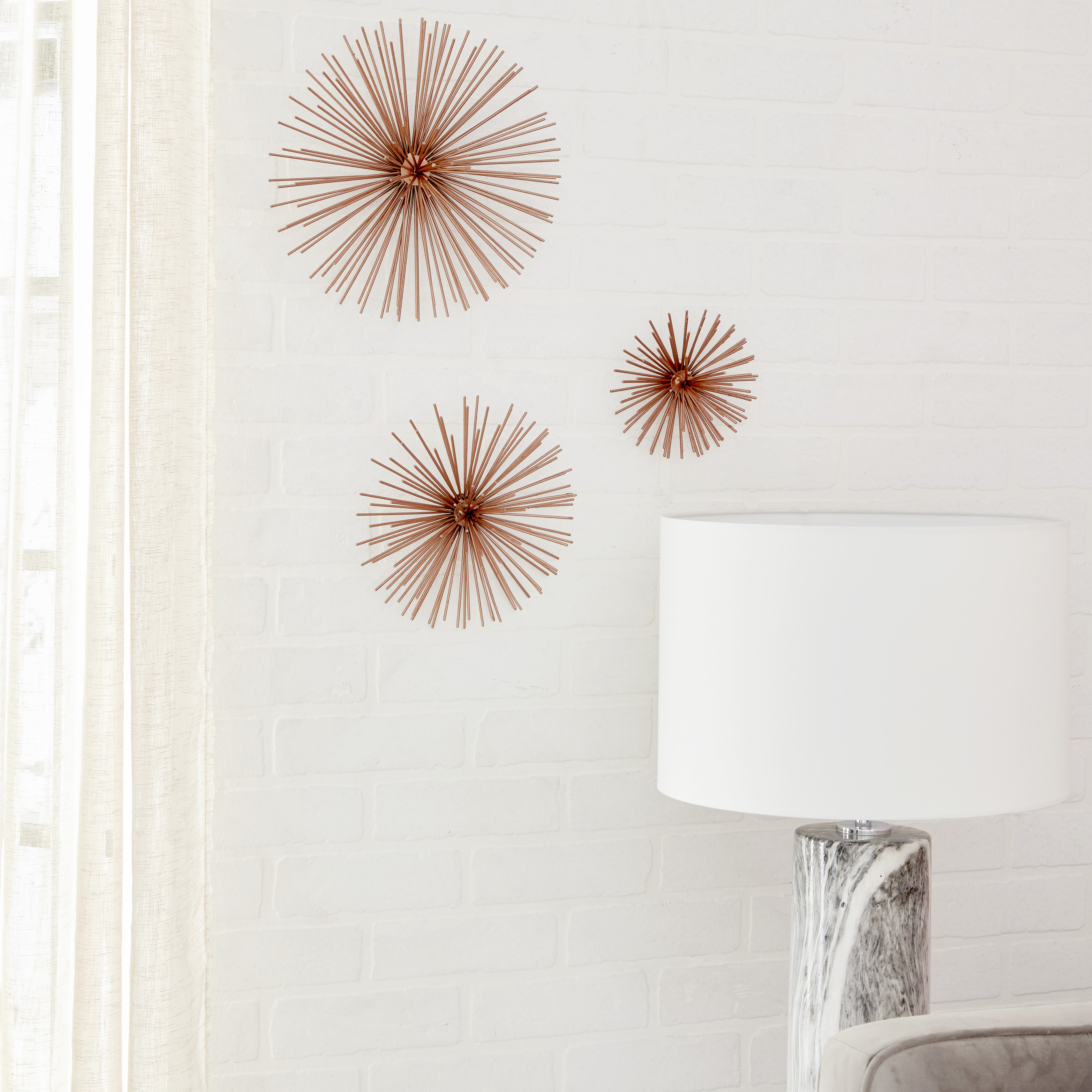 2019 Cosmoliving Contemporary Style 3D Round Copper Metal Starburst Wall With Metal Wall Decor By Cosmoliving (View 1 of 20)
