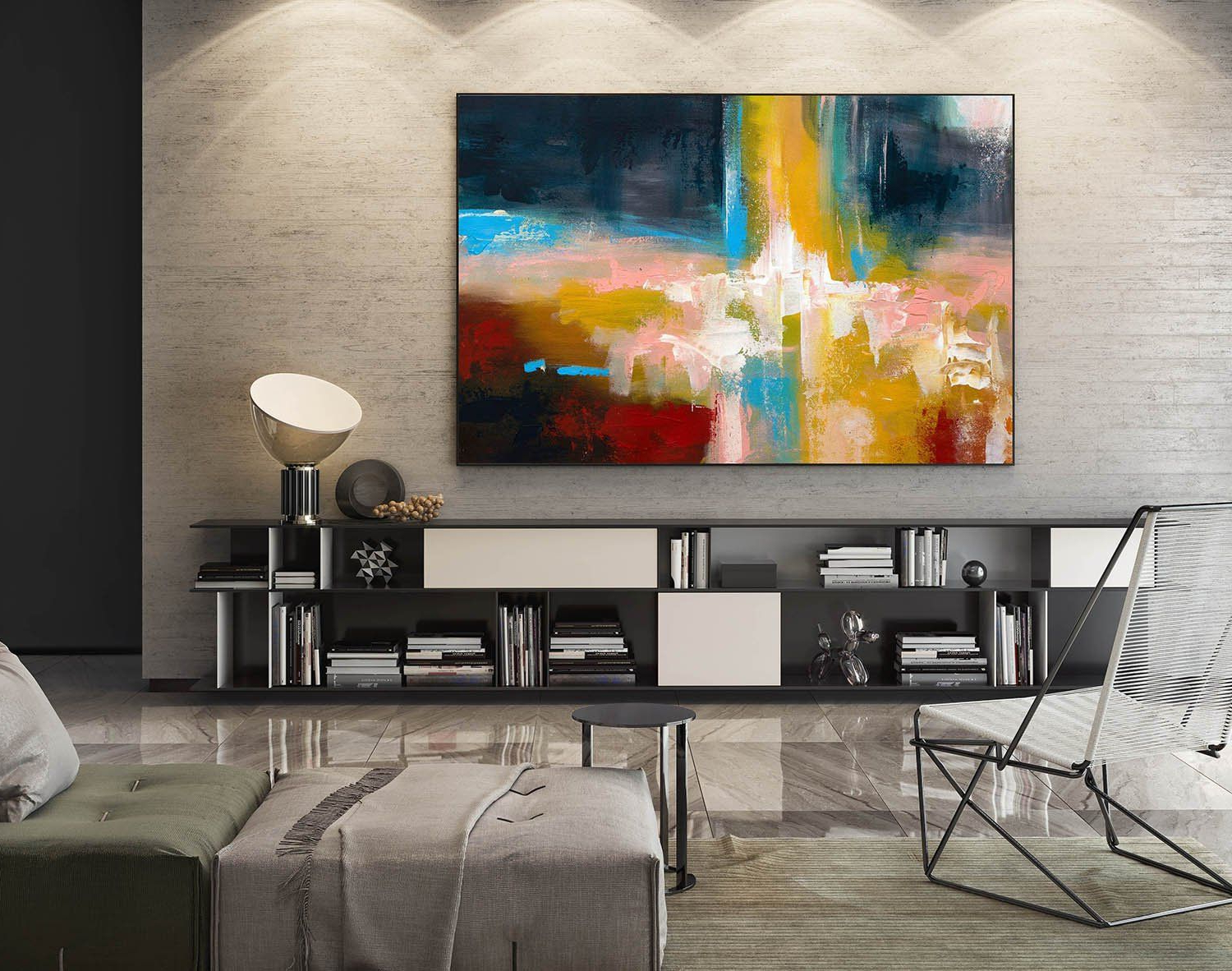 2019 Large Abstract Painting,modern Abstract Painting,oil Hand Painting In Large Modern Industrial Wall Decor (Gallery 14 of 20)