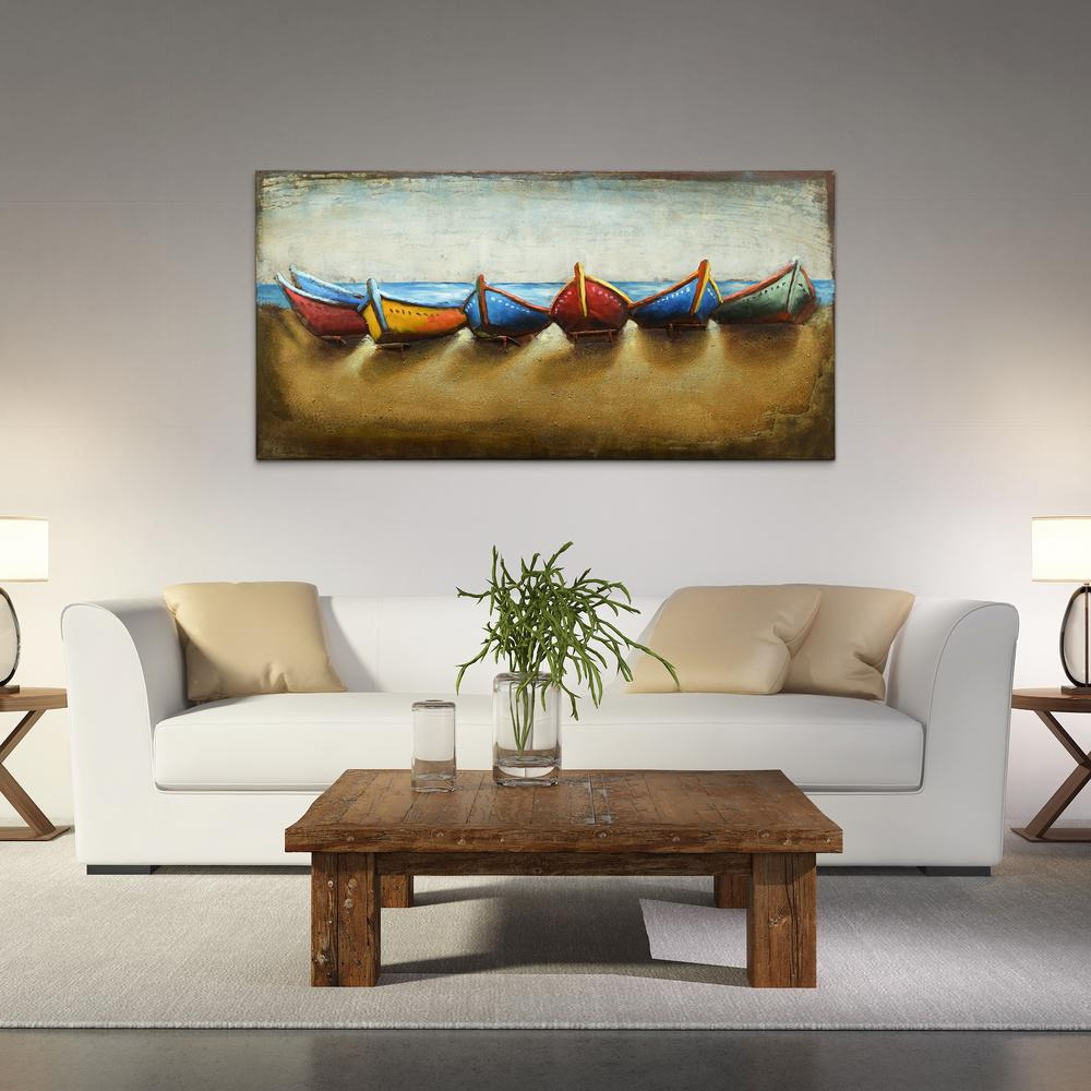 "2019 Mixed Media Iron Hand Painted Dimensional Wall Decor Pertaining To Boats"" Mixed Media Iron Hand Painted Dimensional Wall Decor Pmo (View 16 of 20)"