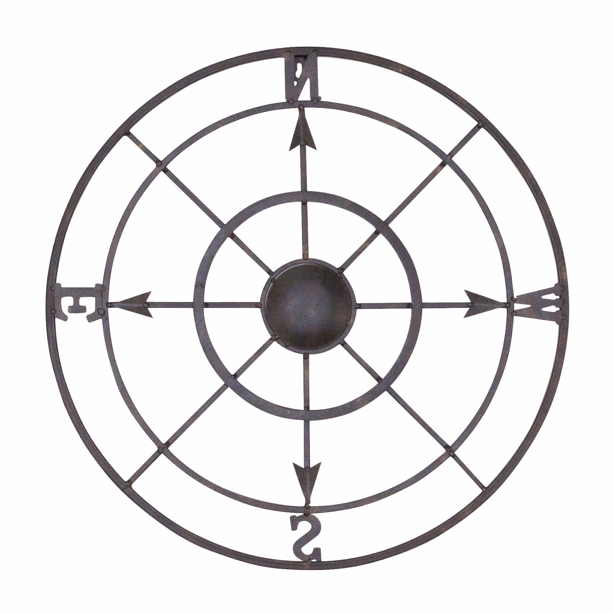 2019 Round Compass Wall Decor Intended For Bayaccents Nautical Metal Compass Rose Wall Décor & Reviews (View 1 of 20)