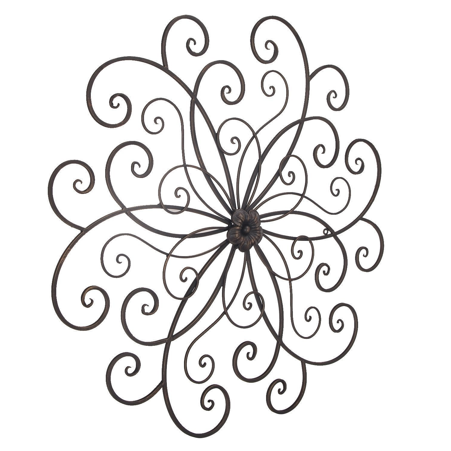 2019 Shop Adeco Bronze Flower Urban Design Metal Wall Decor For Nature Throughout Flower Urban Design Metal Wall Decor (View 1 of 20)