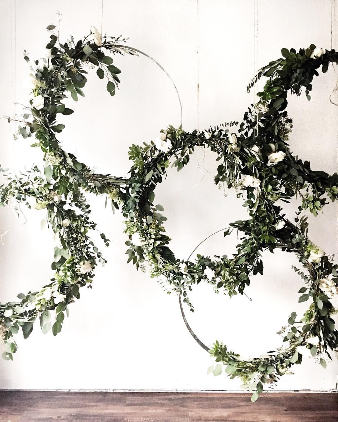 2019 Three Flowers On Vine Wall Decor Throughout Greenery Vine Wreath – Could Be Inside An Embroidery Hoop? Perhaps (View 1 of 20)