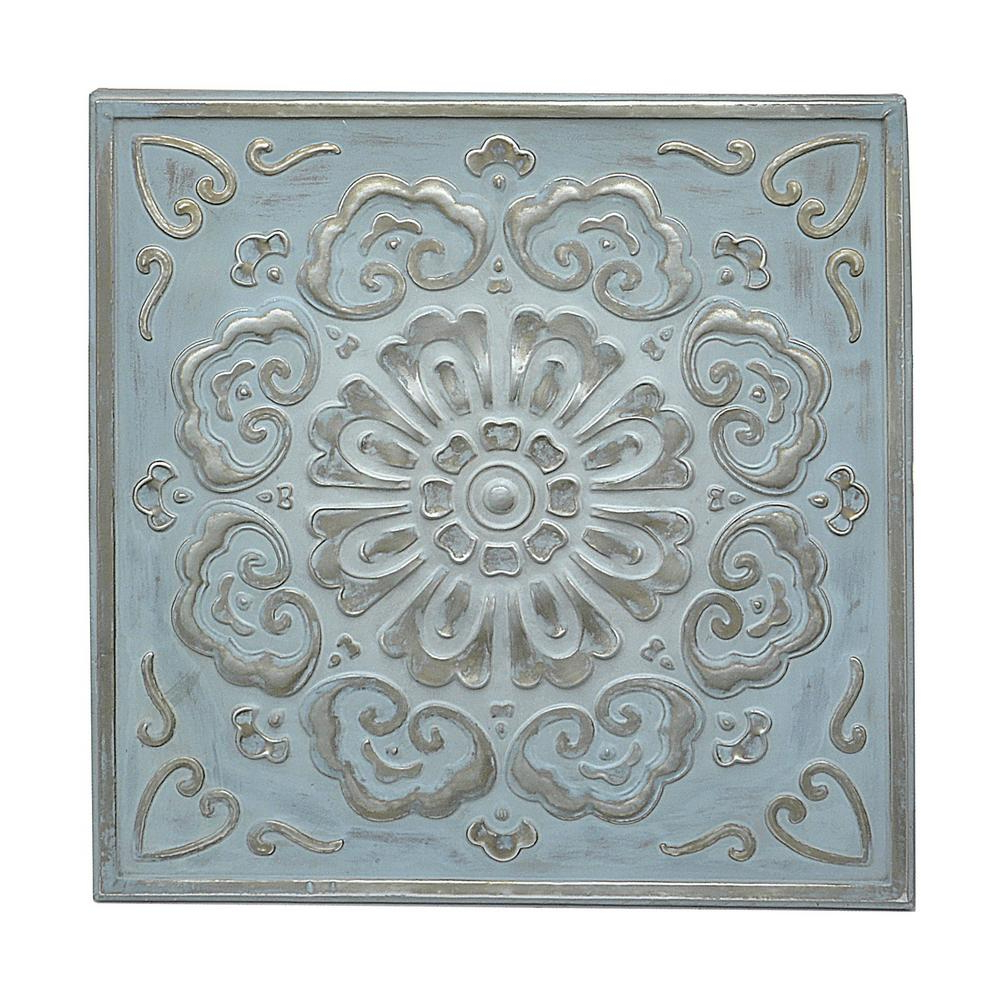 2019 Three Hands Square Medallion Wall Art 57523 – The Home Depot Pertaining To European Medallion Wall Decor (View 1 of 20)