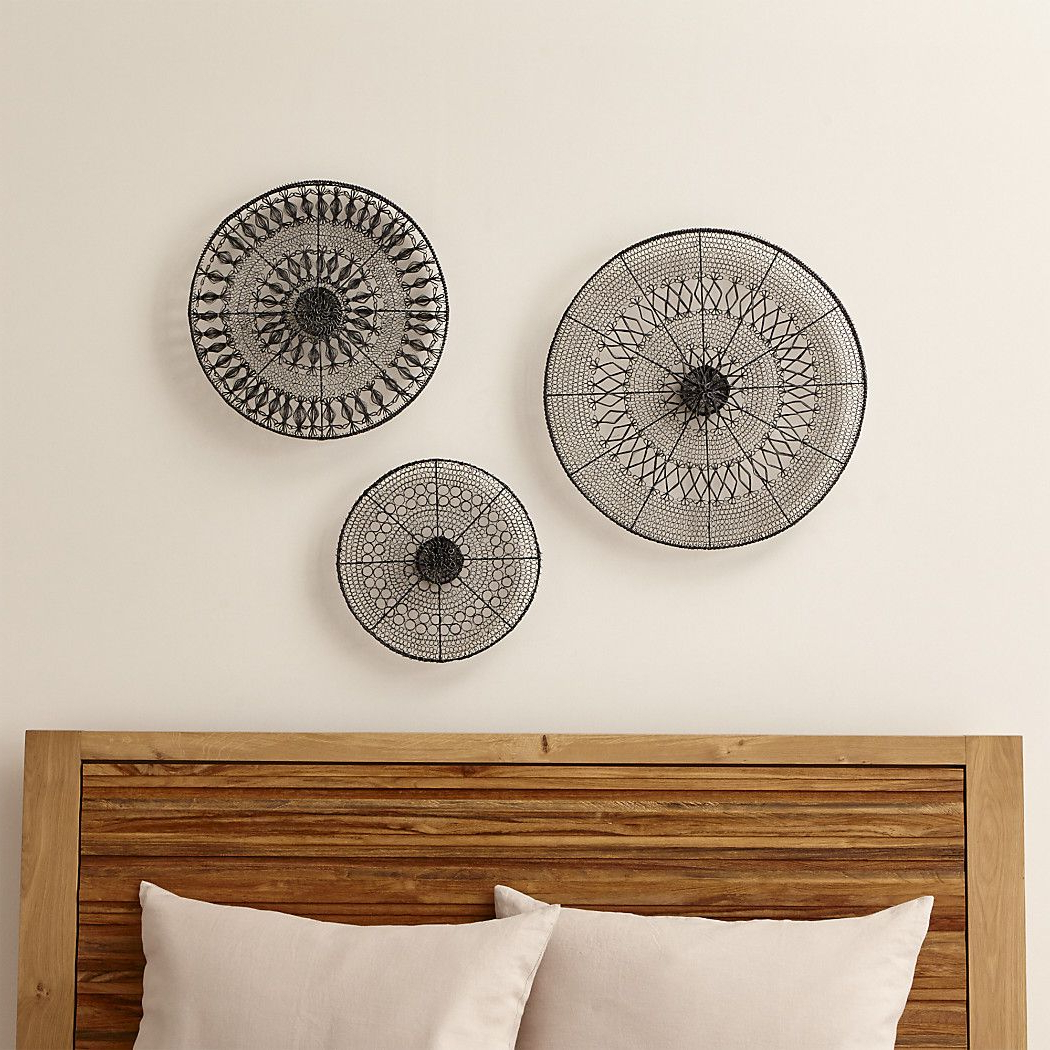 2020 4 Piece Handwoven Wheel Wall Decor Sets Pertaining To Intricate Circle Metal Wall Art 3 Piece Set (View 12 of 20)
