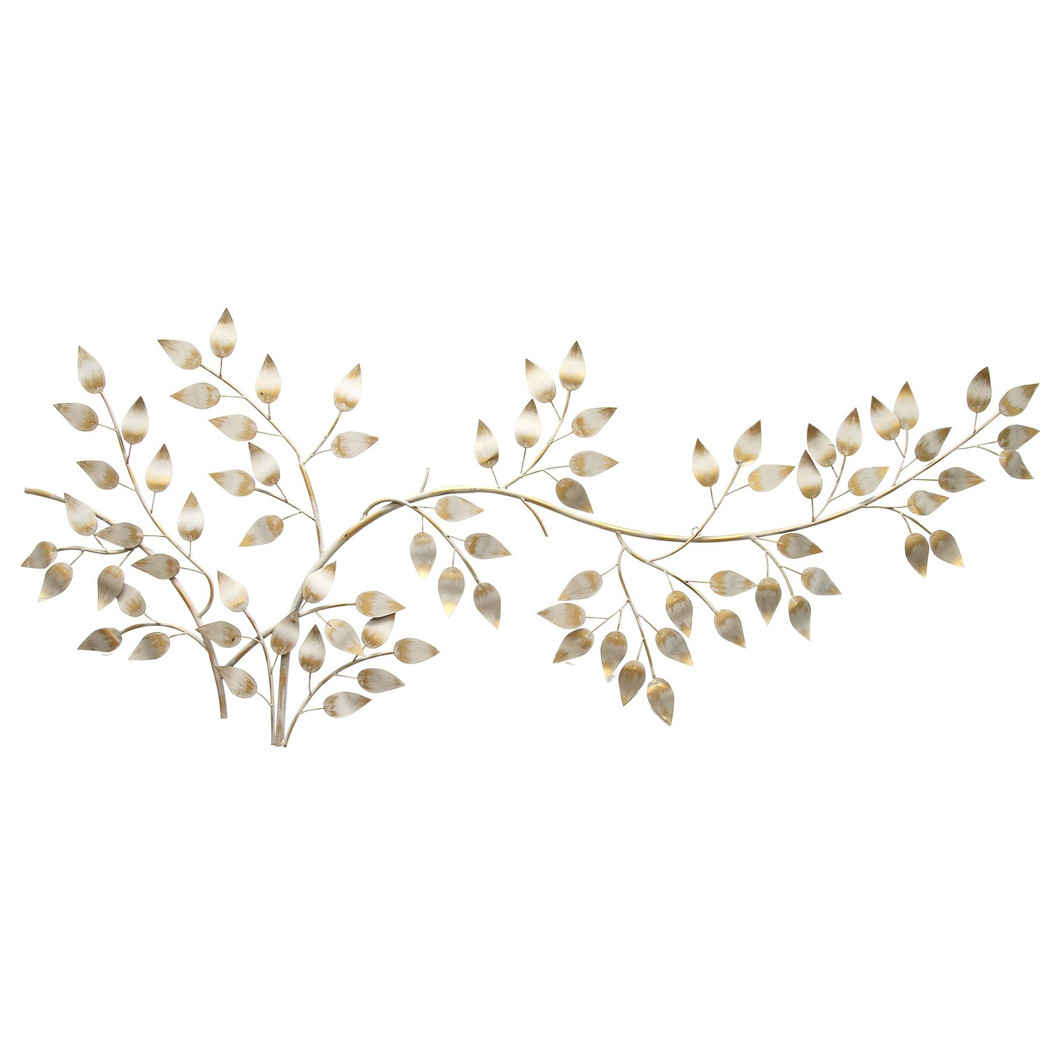2020 Amazon: Stratton Home Décor Stratton Home Shd0106 Brushed Within Flowing Leaves Wall Decor (View 2 of 20)