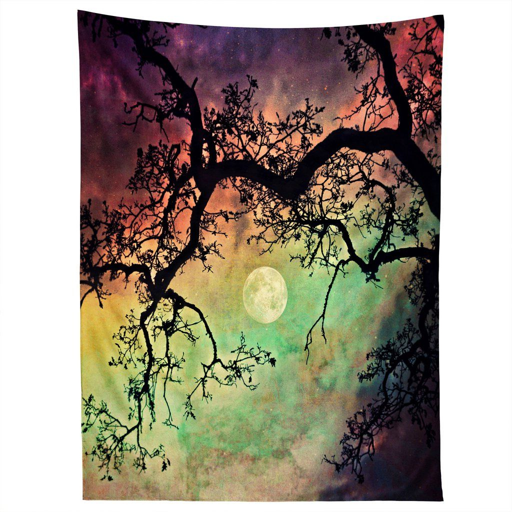 2020 Aurora Sun Wall Decor Within Shannon Clark Aurora Moon Tapestry In  (View 2 of 20)