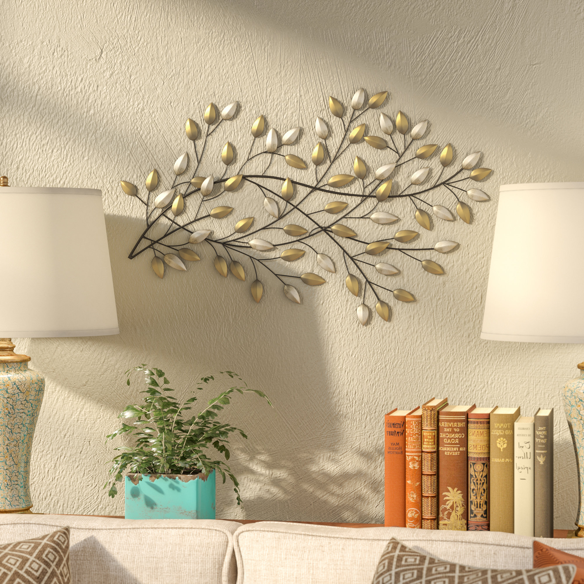 2020 Blowing Leaves Wall Decor Throughout Fleur De Lis Living Blowing Leaves Wall Décor & Reviews (View 1 of 20)