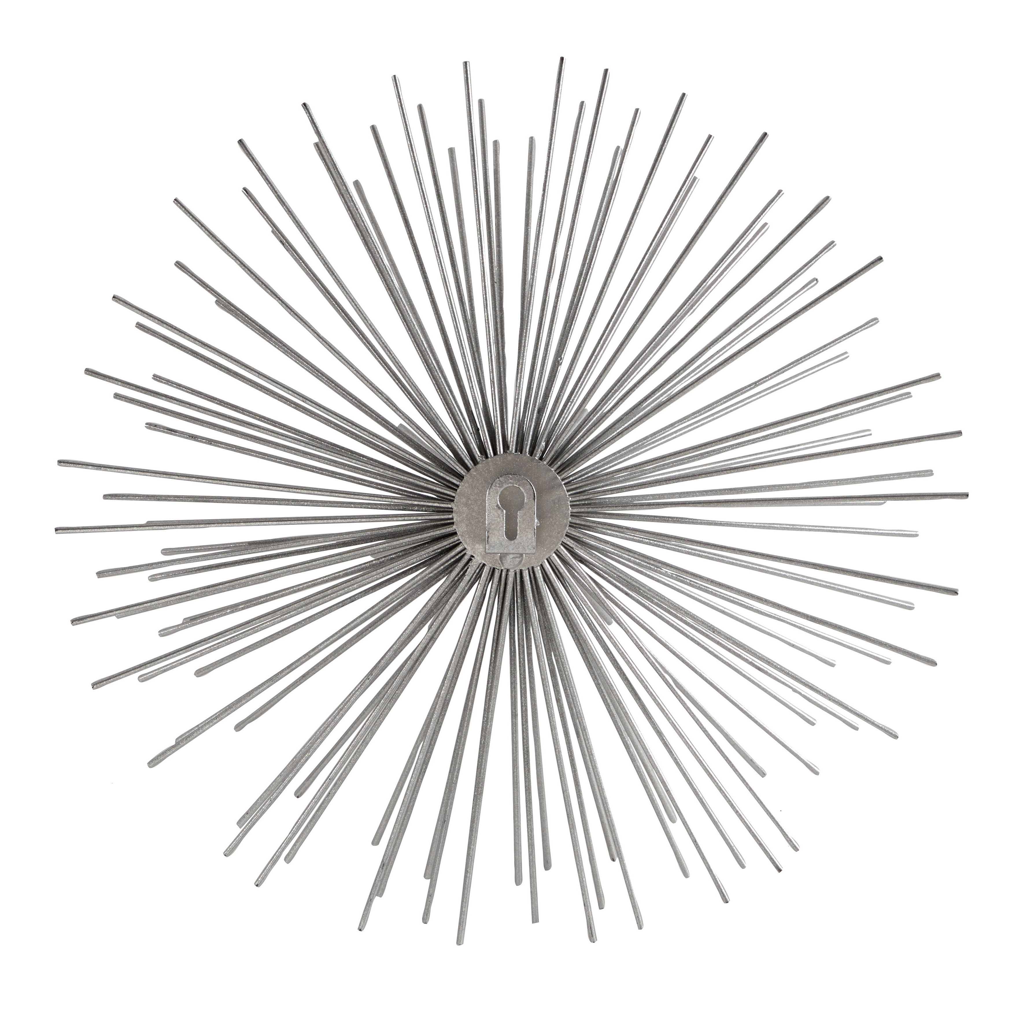2020 Shop Contemporary Style 3D Round Silver Metal Starburst Wall Decor Inside Set Of 3 Contemporary 6, 9, And 11 Inch Gold Tin Starburst Sculptures (View 1 of 20)