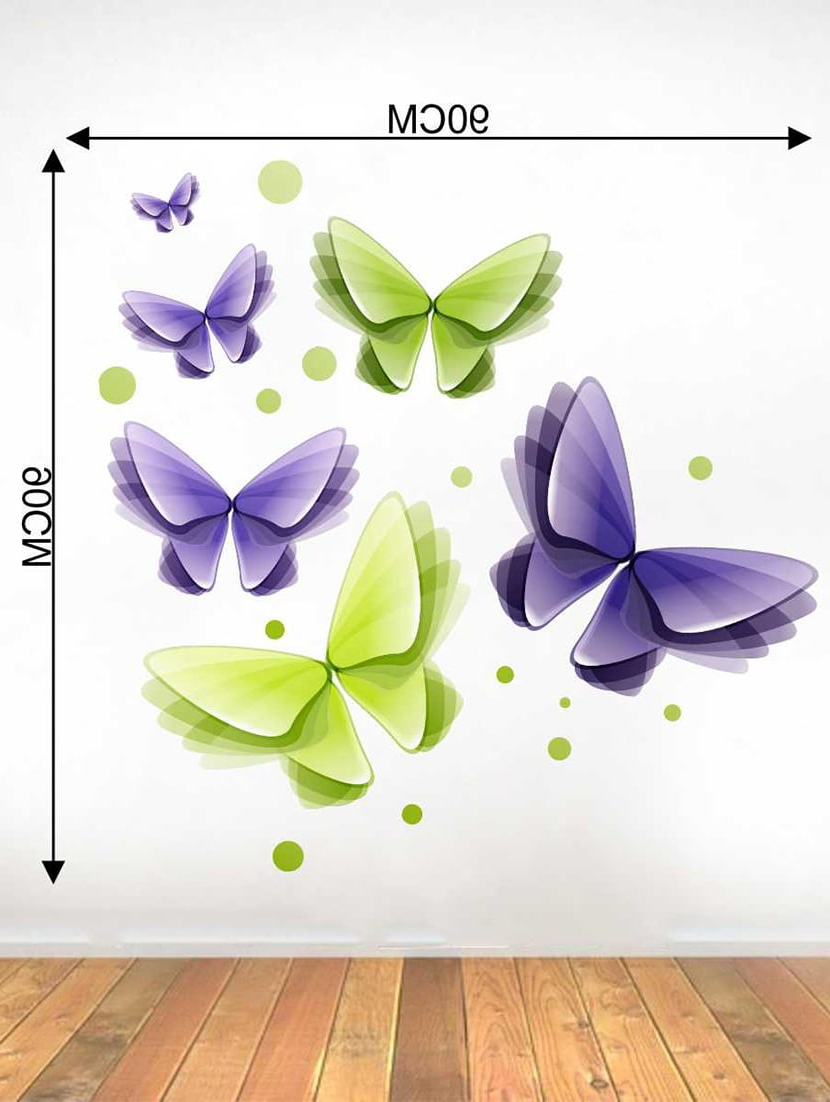 3 Piece Capri Butterfly Wall Decor Sets Within Trendy Buy Rawpockets Wall Decals ' 3D Butterflies Wall Decal Sticker (View 3 of 20)