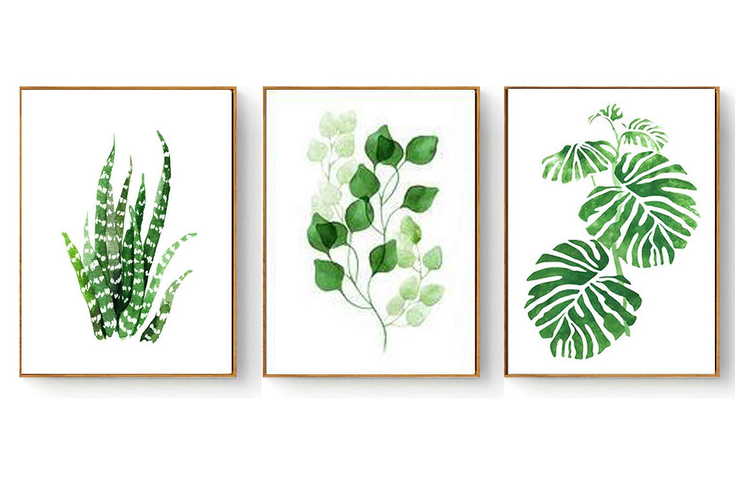 3 Piece Ceramic Flowers Wall Decor Sets With Regard To 2019 Amazon: Hepix Canvas Wall Art Succulent Wall Decor 3 Pieces (Gallery 15 of 20)
