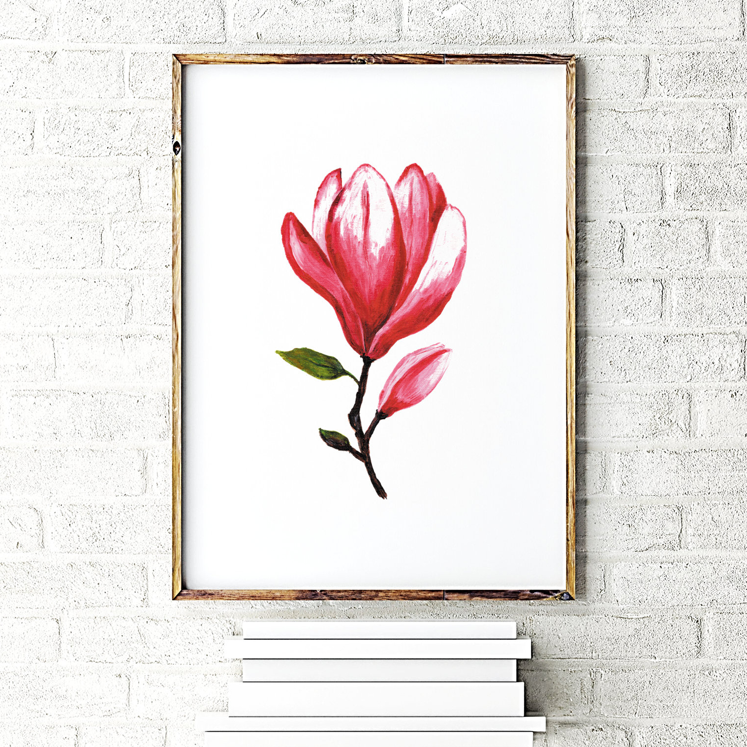 3 Piece Magnolia Brown Panel Wall Decor Sets Intended For Most Current Magnolia Flower Print Floral Wall Decor Magnolia Painting (Gallery 20 of 20)