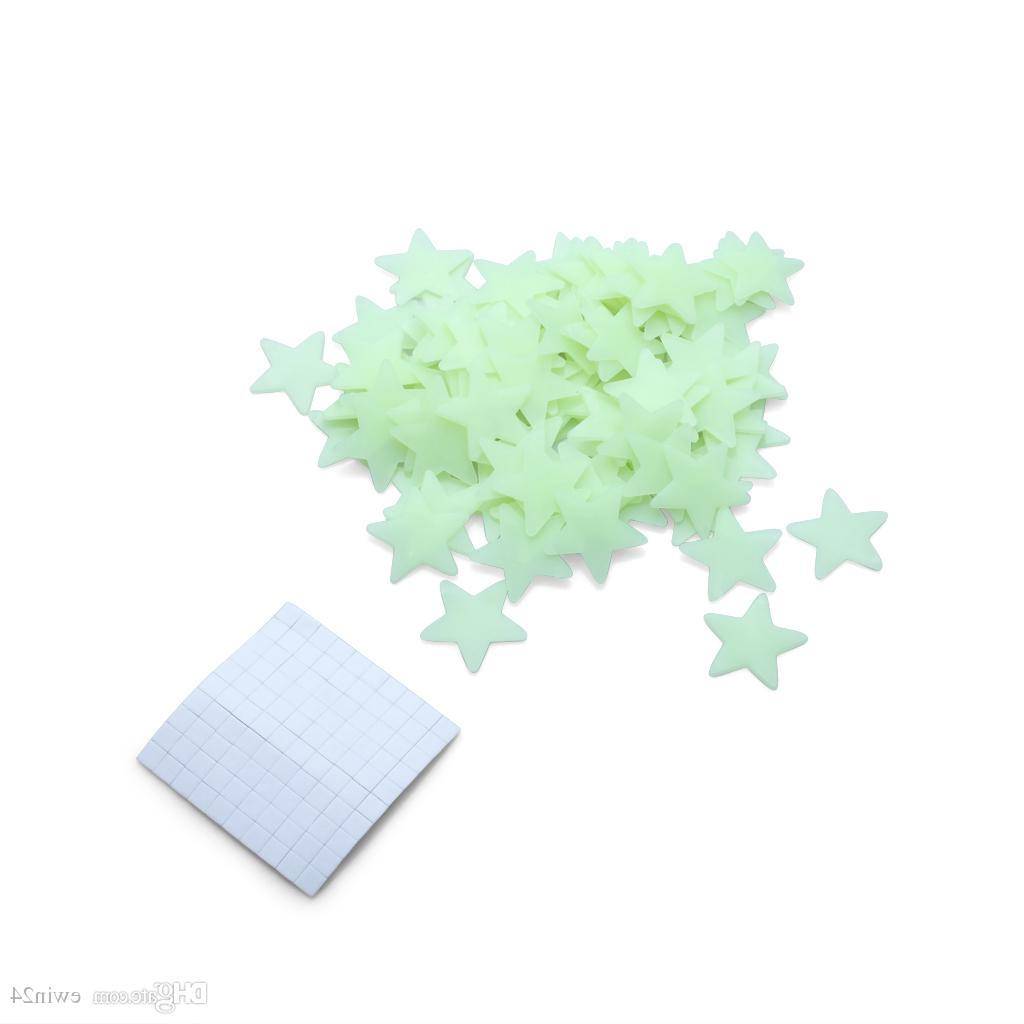 3 Piece Star Wall Decor Sets With Most Current Glow In The Dark Stars Space Stellar Wall Decals Stickers For Kids (View 17 of 20)