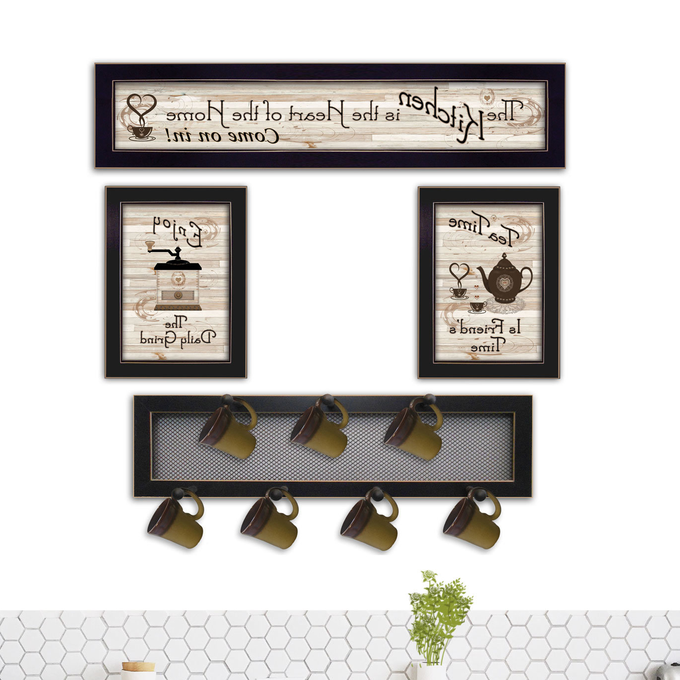 4 Piece Metal Wall Plaque Decor Sets Inside Newest August Grove 4 Piece Kitchen Wall Décor Set & Reviews (Gallery 2 of 20)
