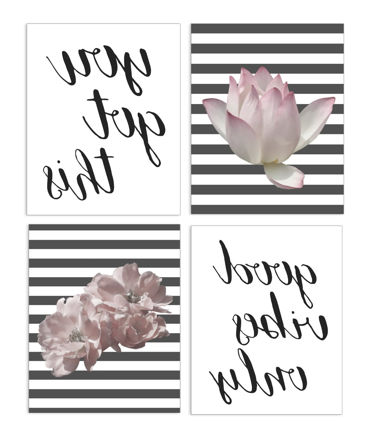 4 Piece Wall Decor Sets Within Most Recent Veni Vidi Vici: Ink Print Art – 4 Piece Wall Art Set (View 2 of 20)