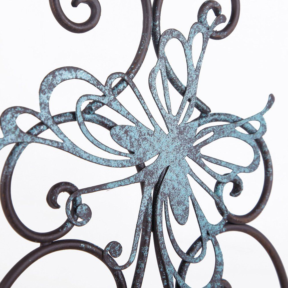 Adeco Flower And Butterfly Urban Design Metal Wall Decor For Nature With Regard To Most Current Flower Urban Design Metal Wall Decor (View 4 of 20)