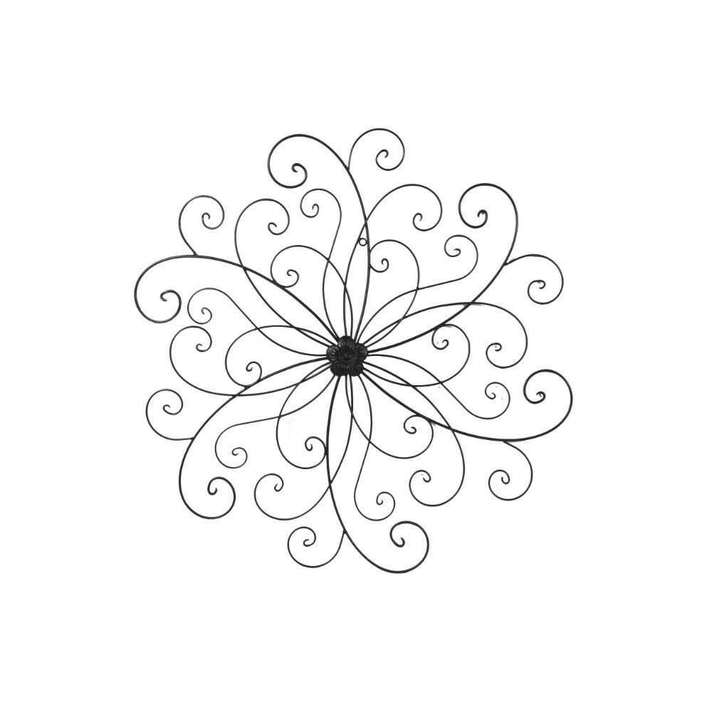 Amazon: Adeco Dn0014 Flower Urban Design Metal Wall Decor For Pertaining To Most Popular Flower Urban Design Metal Wall Decor (Gallery 11 of 20)
