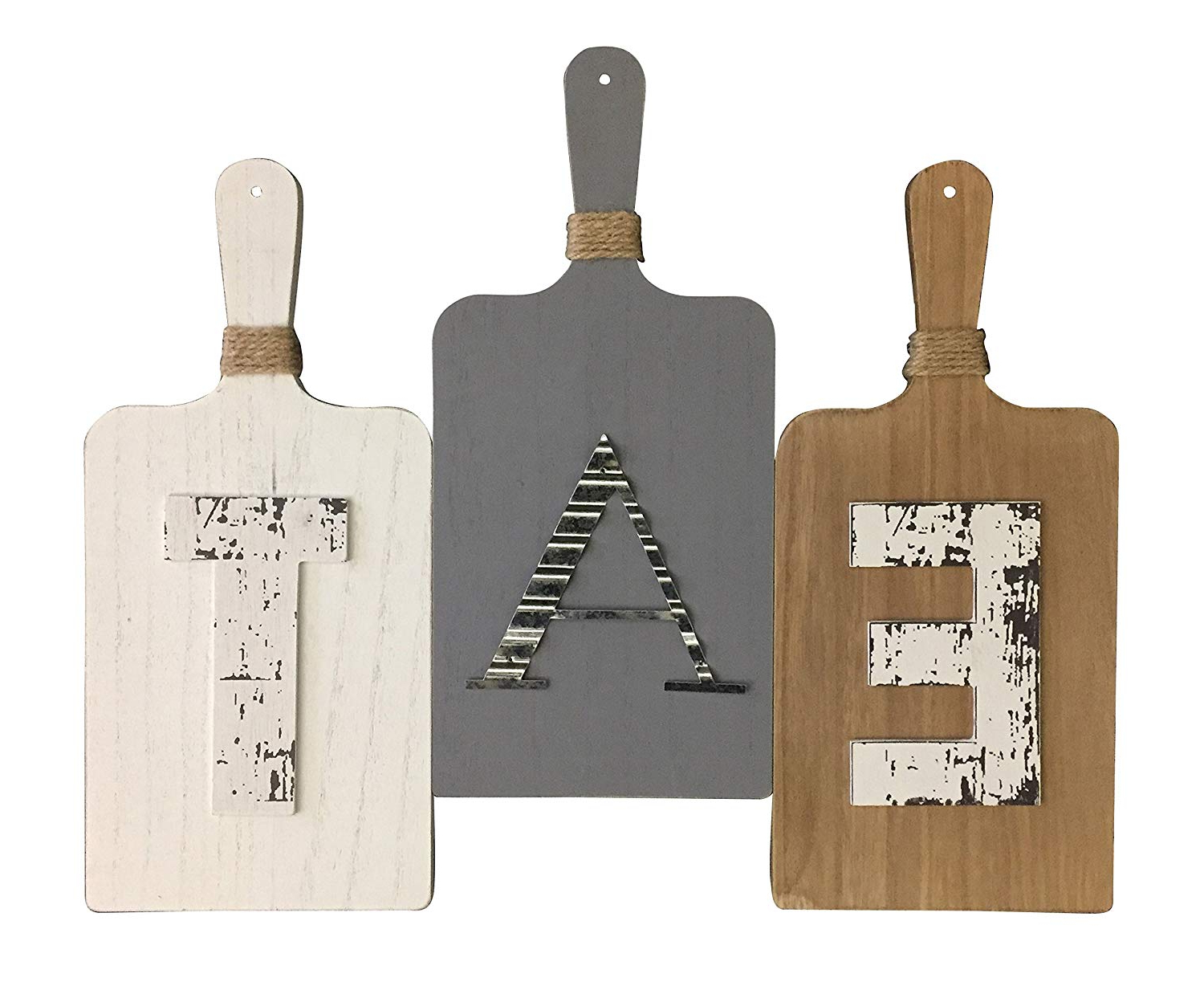 Amazon: Boston Warehouse Rustic Farmhouse 3 Panels, Eat Wall With Recent 3 Piece Star Wall Decor Sets (View 16 of 20)