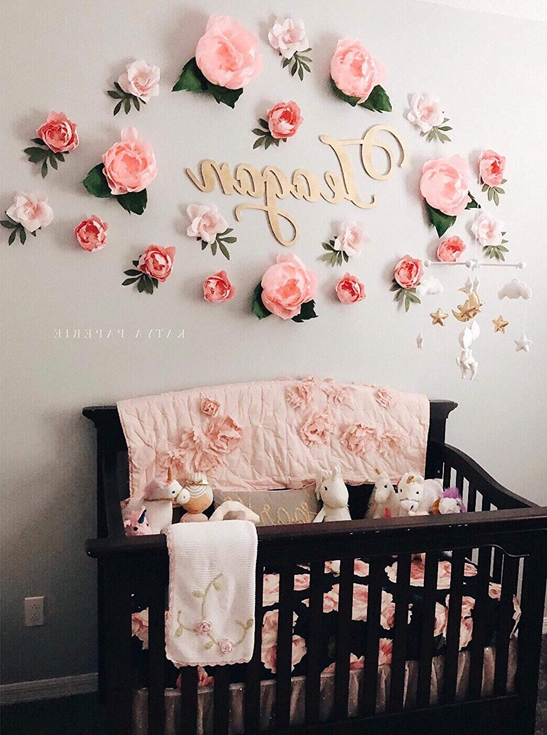 Amazon: Dreamy Paper Flower Wall Display (View 3 of 20)