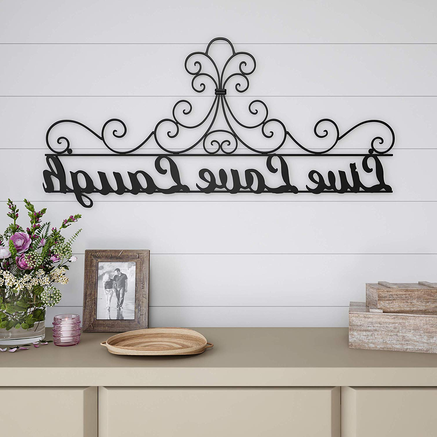 Amazon: Lavish Home Metal Cutout Live Laugh Love Wall Sign 3D Intended For Well Known Choose Happiness 3D Cursive Metal Wall Decor (View 1 of 20)