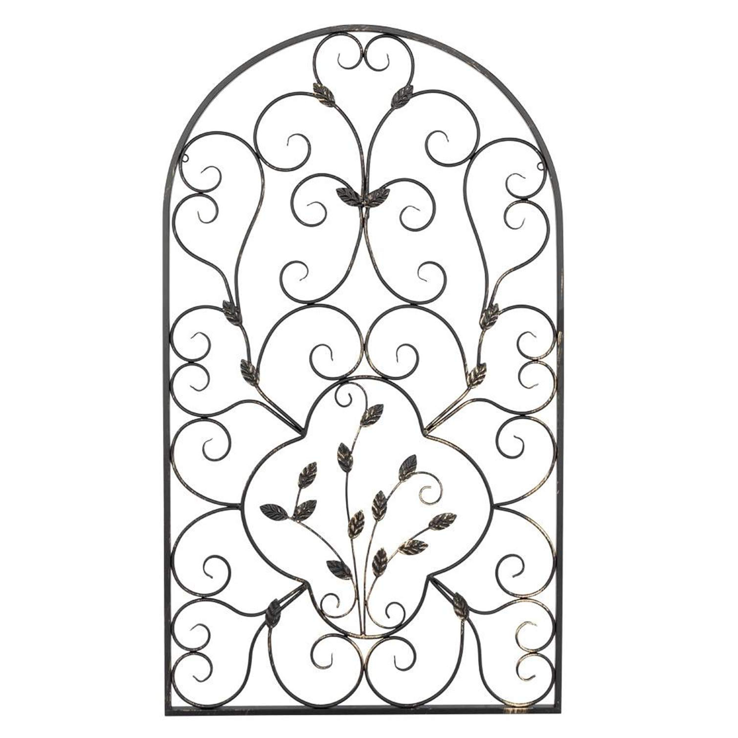 "Amazon: Shutao 41"" Semi Circular Retro Decorative Spanish Arch Intended For 2019 Ornamental Wood And Metal Scroll Wall Decor (Gallery 19 of 20)"