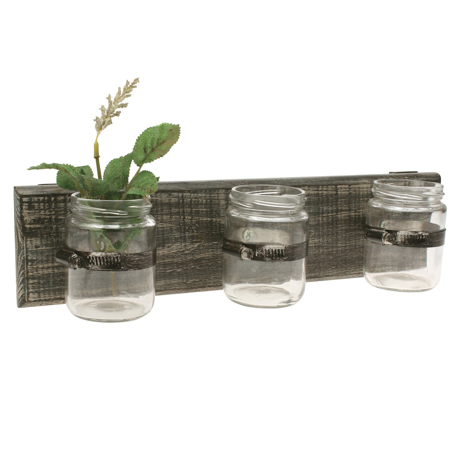 Amazon: Stonebriar 3 Jar Wall Decor: Home & Kitchen For Well Known Three Glass Holder Wall Decor (View 4 of 20)
