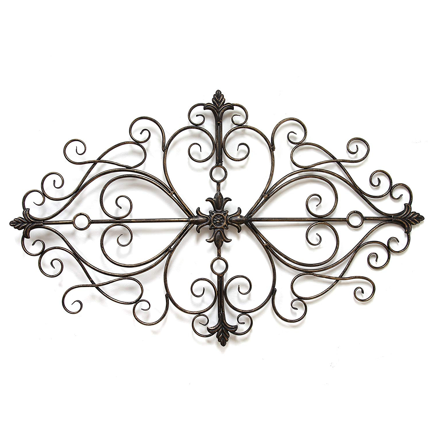 Amazon: Stratton Home Decor Shd0138 Traditional Scroll Wall Pertaining To Newest Ornate Scroll Wall Decor (Gallery 7 of 20)