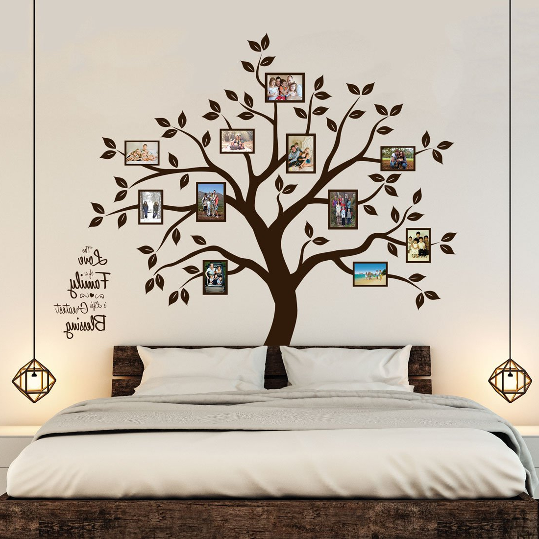 Amazon: Timber Artbox Beautiful Family Tree Wall Decal With Throughout Well Known Tree Wall Decor (View 2 of 20)