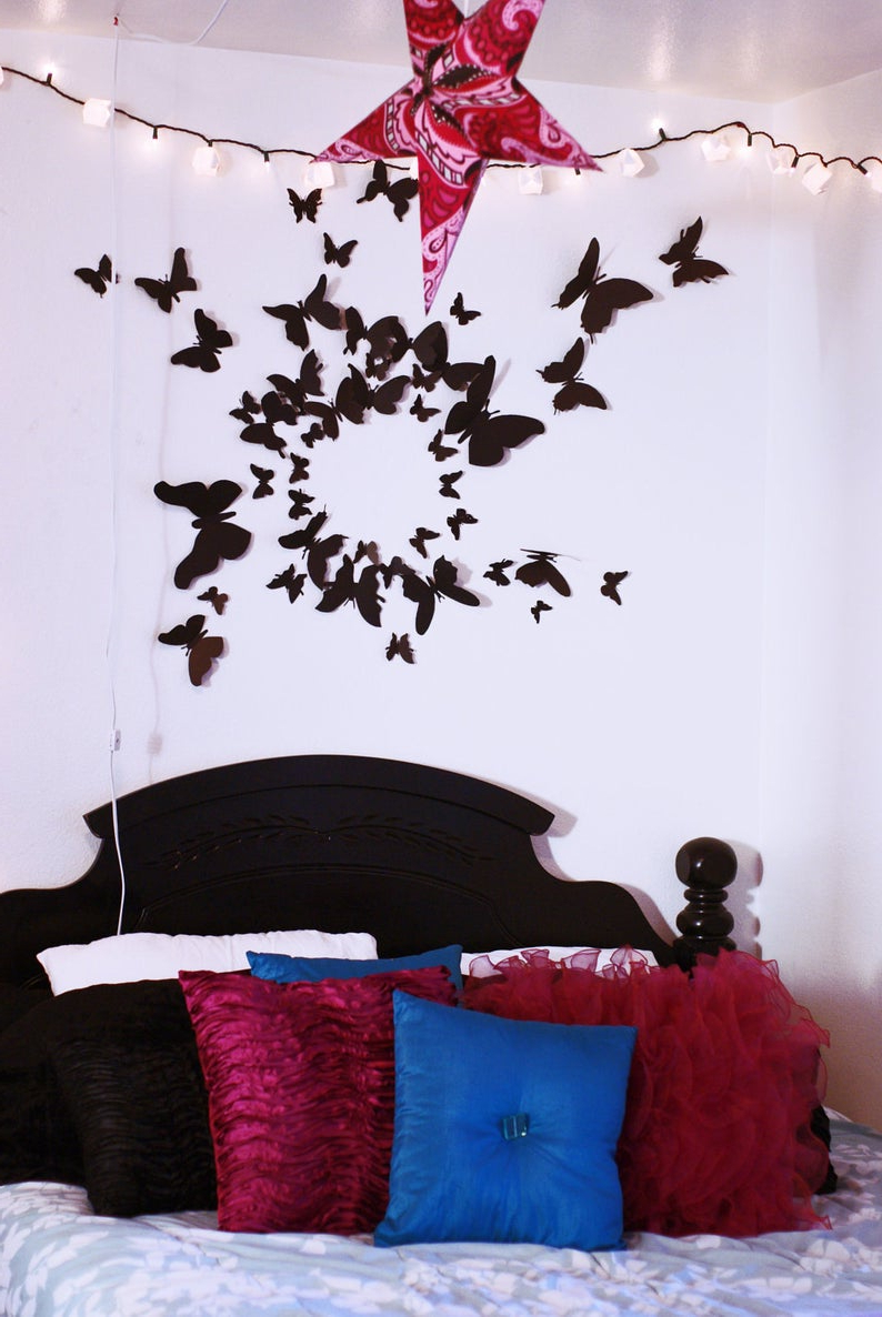 American Pride 3D Wall Decor Inside Popular 3D Butterfly Wall Art Paper Butterflies Set Of 100 Home (Gallery 14 of 20)