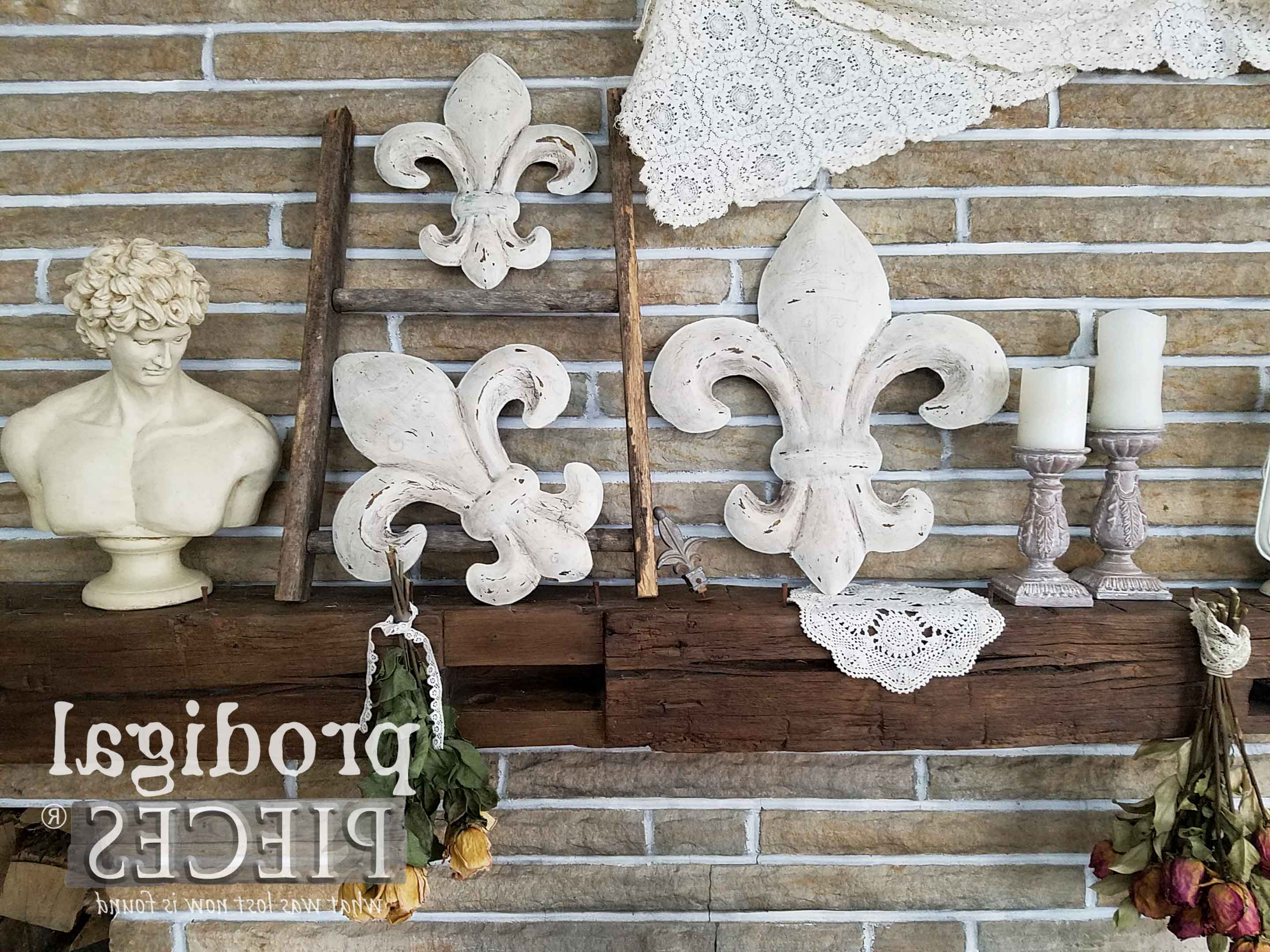 Best And Newest 2 Piece Metal Wall Decor Sets By Fleur De Lis Living Within Fleur De Lis Wall Art ~ From Thrifted To Fabulous – Prodigal Pieces (View 5 of 20)