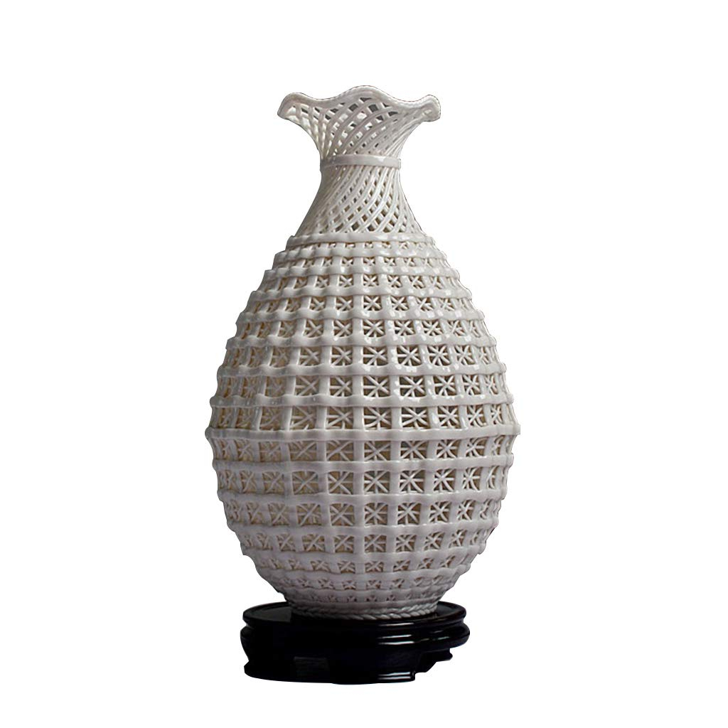 Best And Newest Amazon: Zhaolirushop Vases Ceramic Vase Hand Woven Woven Hollow With 4 Piece Handwoven Wheel Wall Decor Sets (Gallery 15 of 20)