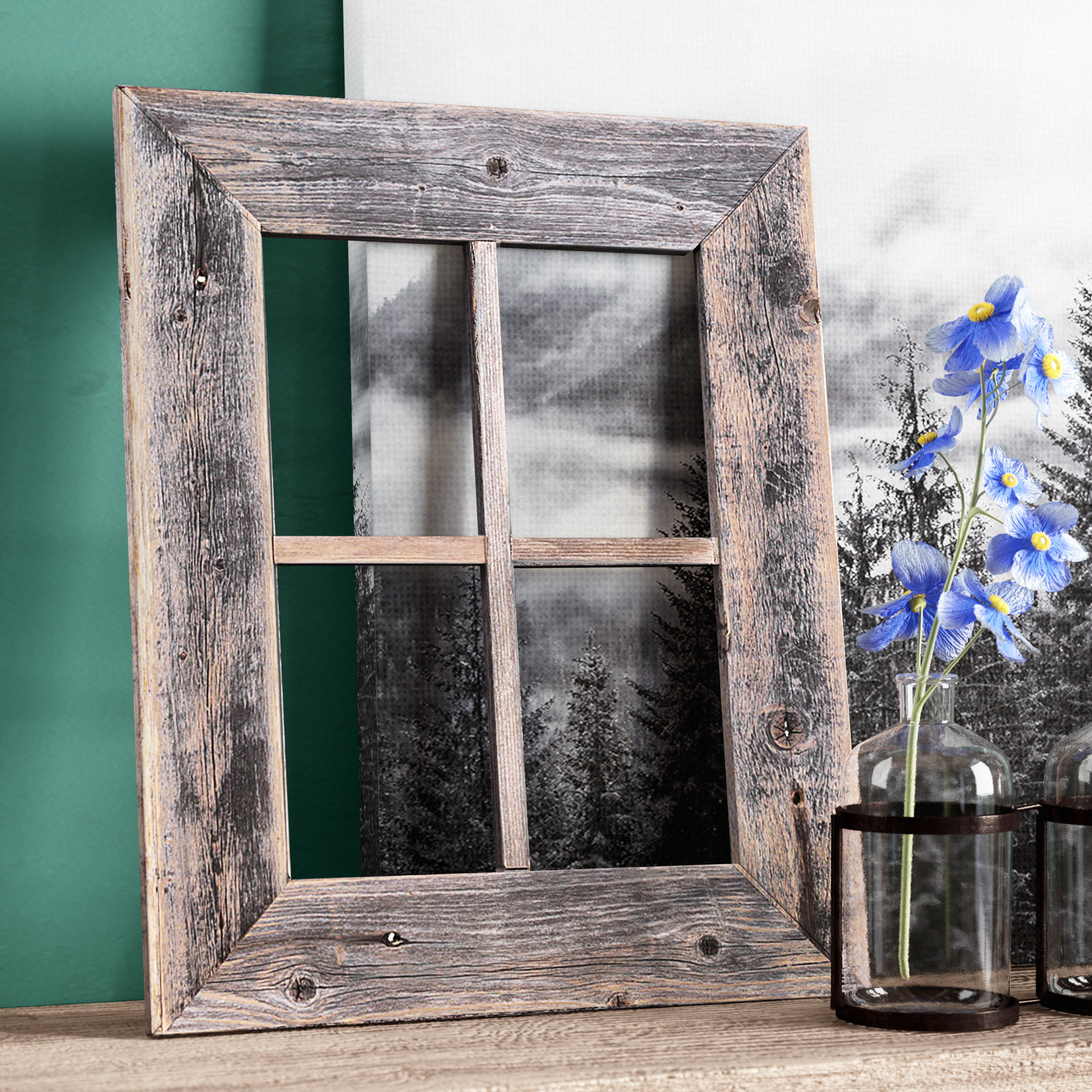 Best And Newest Union Rustic Old Rustic Barn Window Frame & Reviews (Gallery 1 of 20)