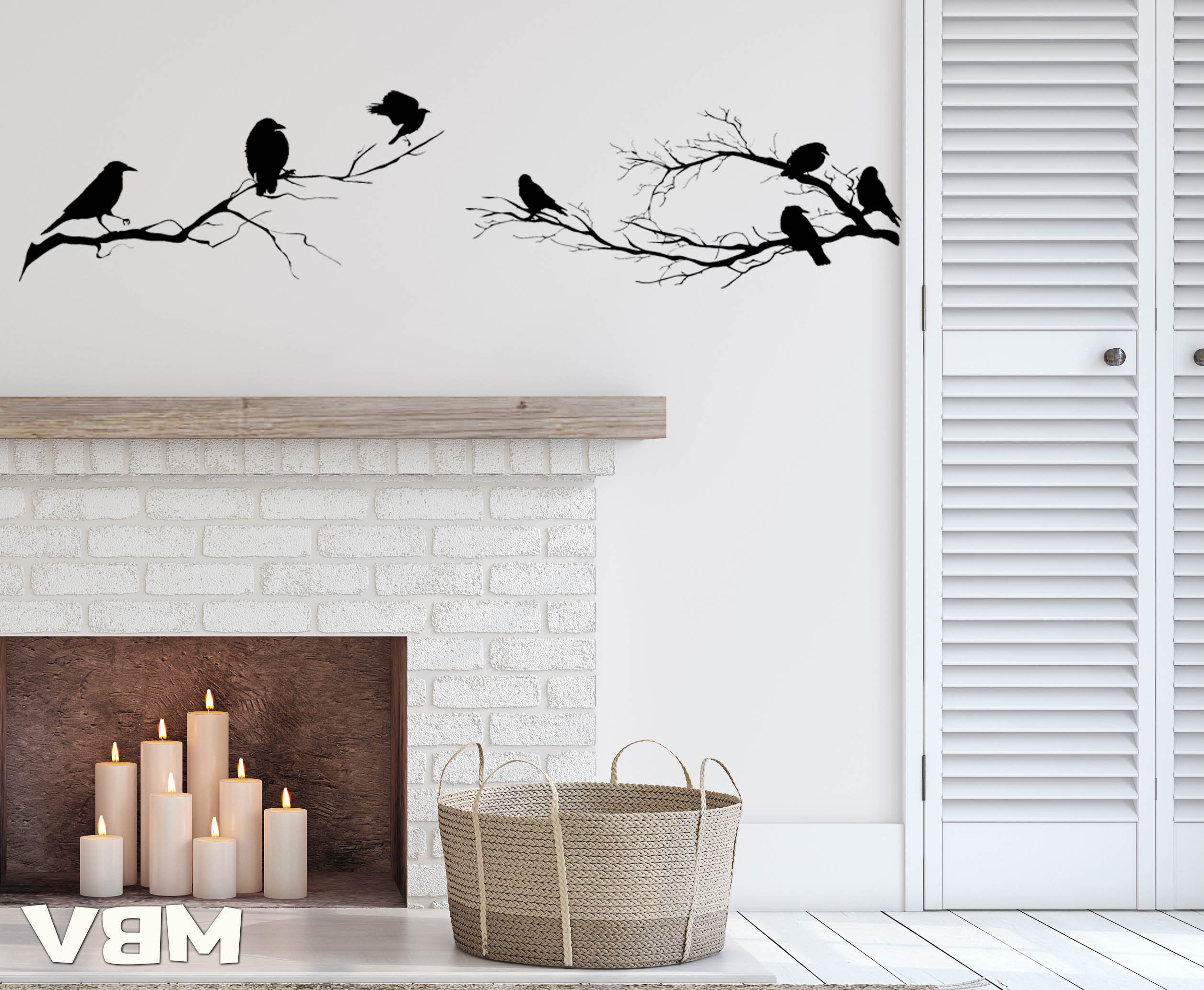Birds On A Branch Wall Decor In Latest Birds On Branch Wall Decor Tree Branches Birds Wall Art (Gallery 12 of 20)