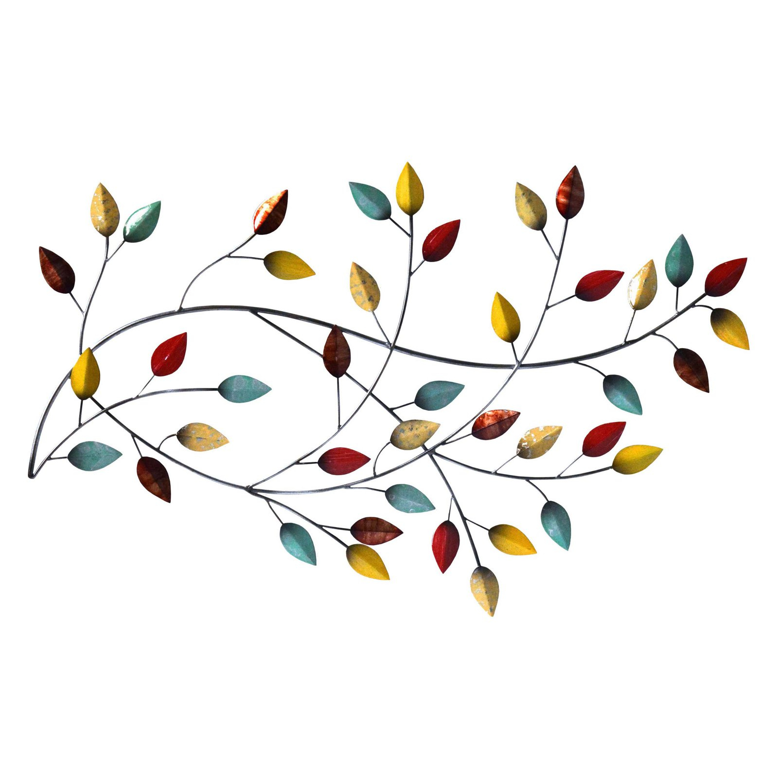 Blowing Leaves Wall Decor Inside Fashionable Stratton Home Decor Autumn Blowing Leaves Wall Decor – Walmart (View 5 of 20)