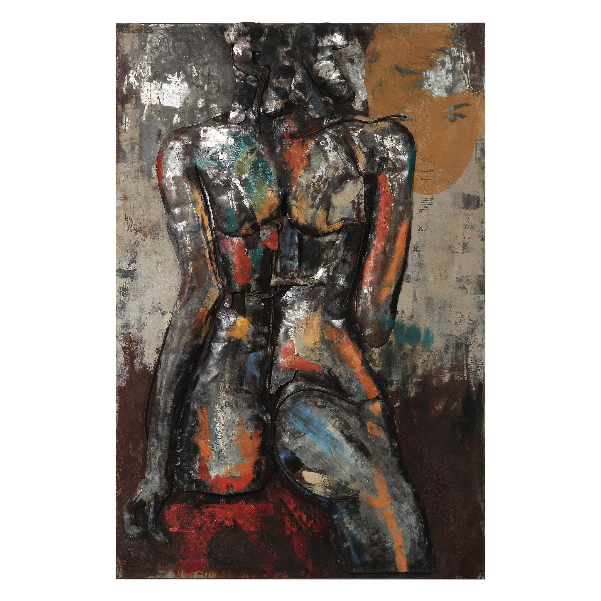 """bridge To The City"" Mixed Media Iron Hand Painted Dimensional Wall Decor For Latest Empire Art Direct ""nude Study 1"" Mixed Media Iron Hand Painted (View 1 of 20)"