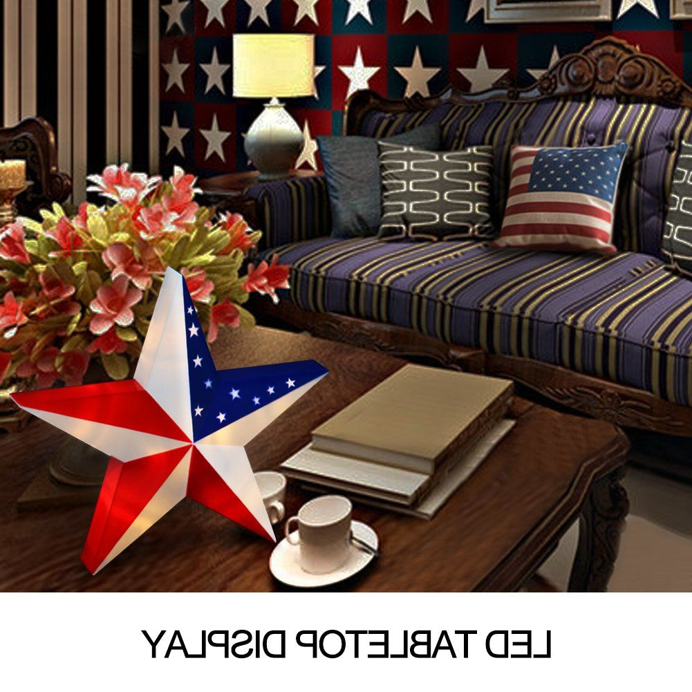 Bright Zeal 13 Led 3D American Flag Star Wall Decor Patriotic For Most Recent American Flag 3D Wall Decor (View 15 of 20)