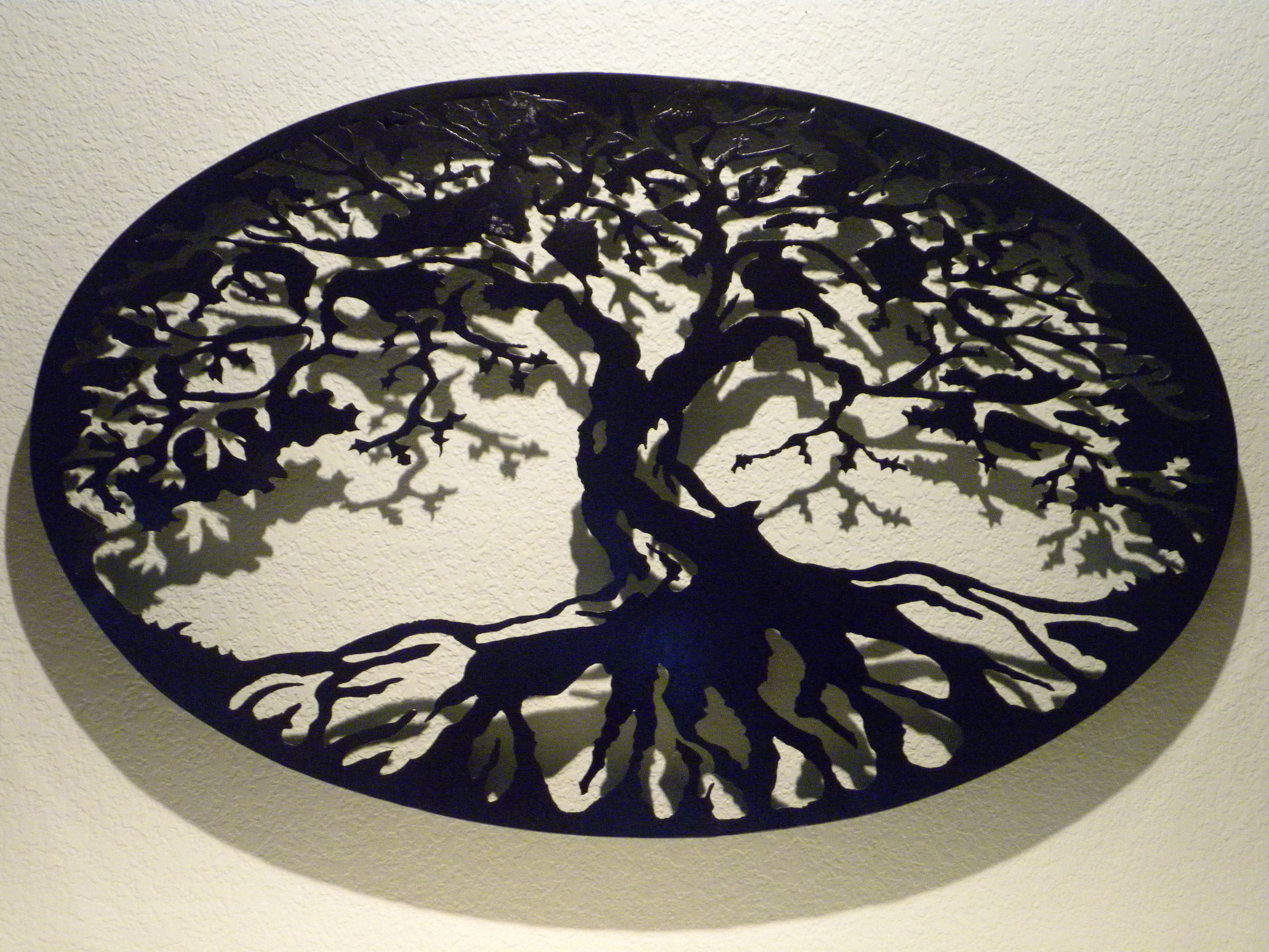 Buy A Custom Oval Tree Of Life Metal Wall Art, Made To Order From For Well Known Tree Of Life Wall Decor (View 2 of 20)