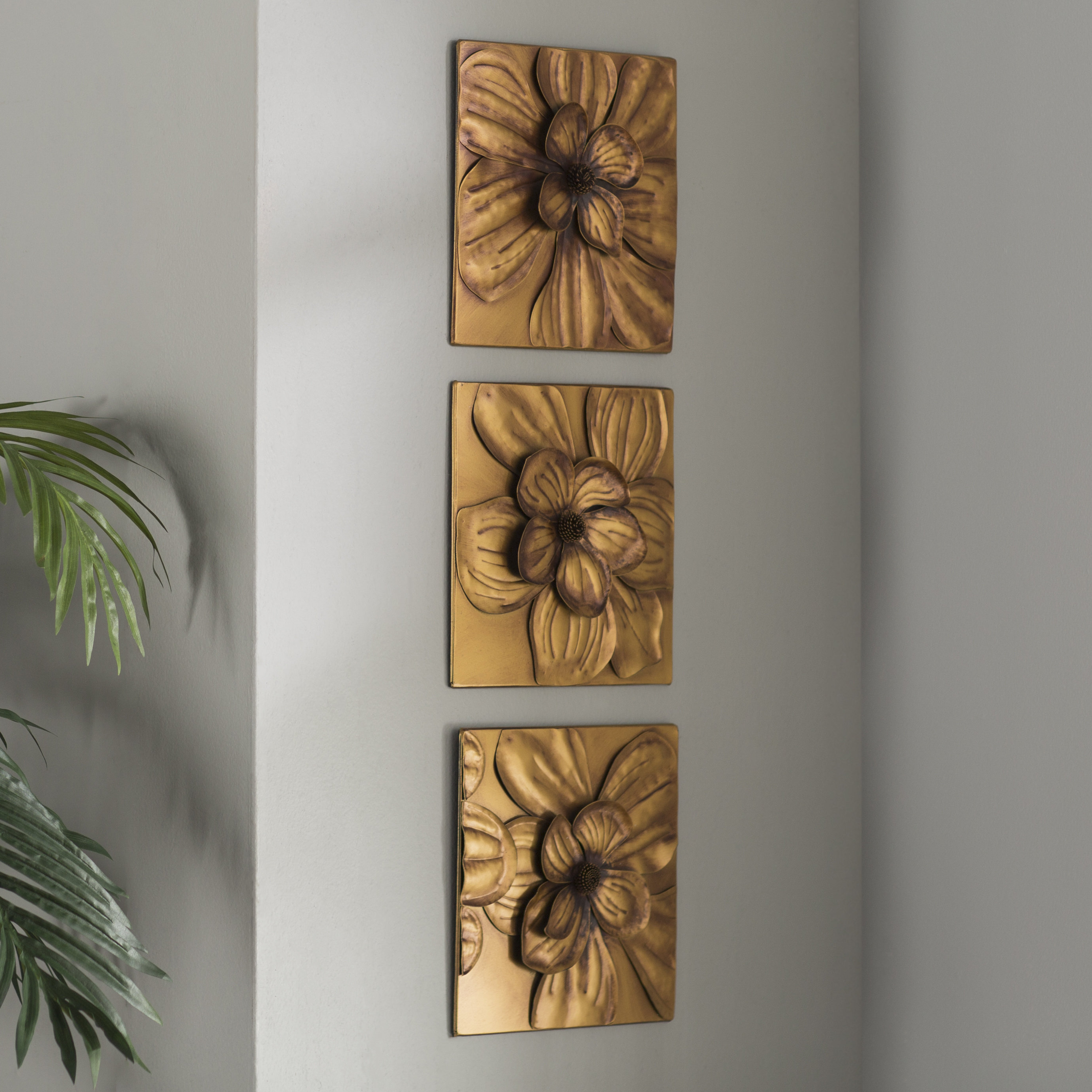 Charlton Home 3 Piece Magnolia Brown Panel Wall Décor Set & Reviews Intended For Popular 3 Piece Magnolia Brown Panel Wall Decor Sets (Gallery 1 of 20)